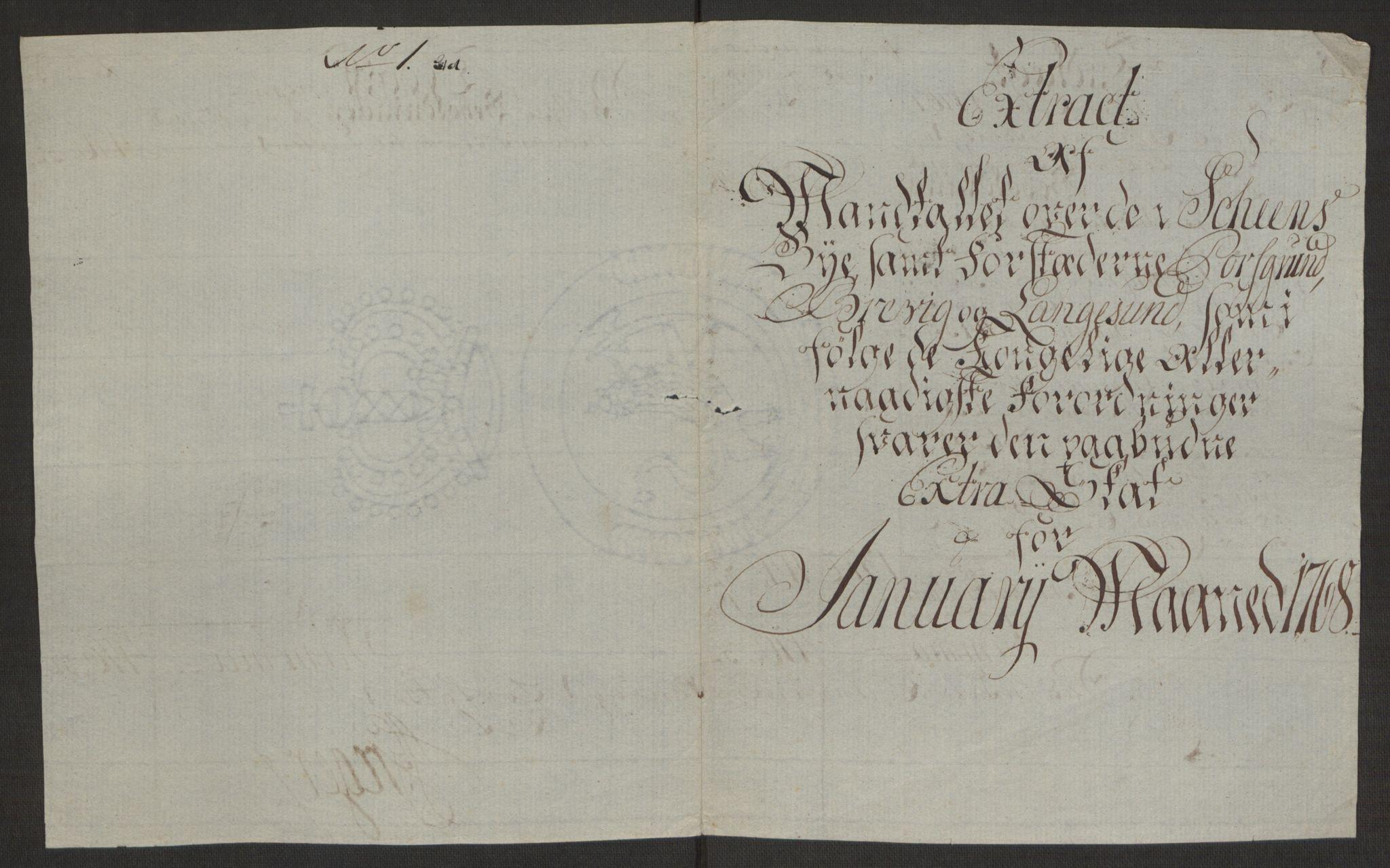 RA, Rentekammeret inntil 1814, Reviderte regnskaper, Byregnskaper, R/Rj/L0198: [J4] Kontribusjonsregnskap, 1762-1768, s. 478