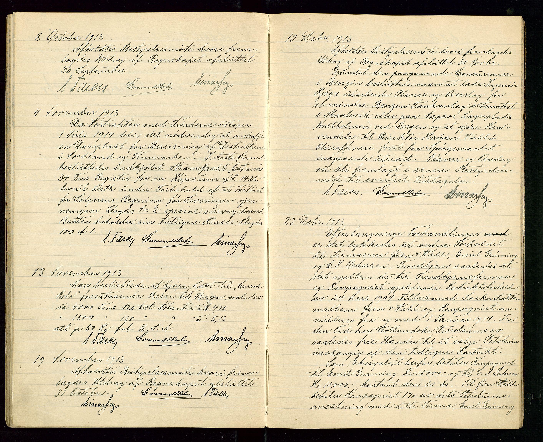 SAST, PA 1533 - A/S Vestlandske Petroleumscompani, A/Aa/L0001: Generalforsamlinger og styreprotokoller, 1907-1915, s. 49
