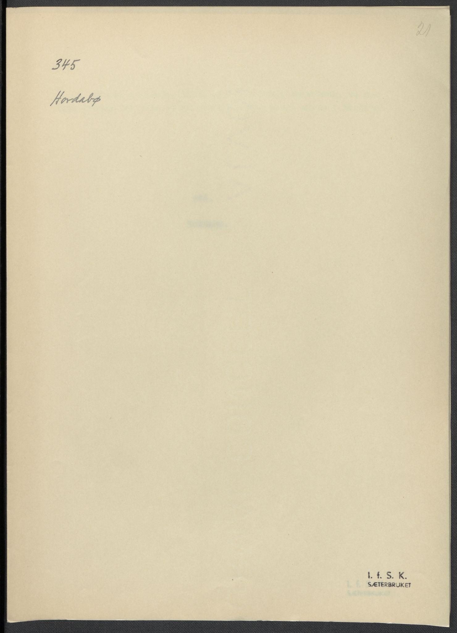 RA, Instituttet for sammenlignende kulturforskning, F/Fc/L0010: Eske B10:, 1932-1935, s. 21