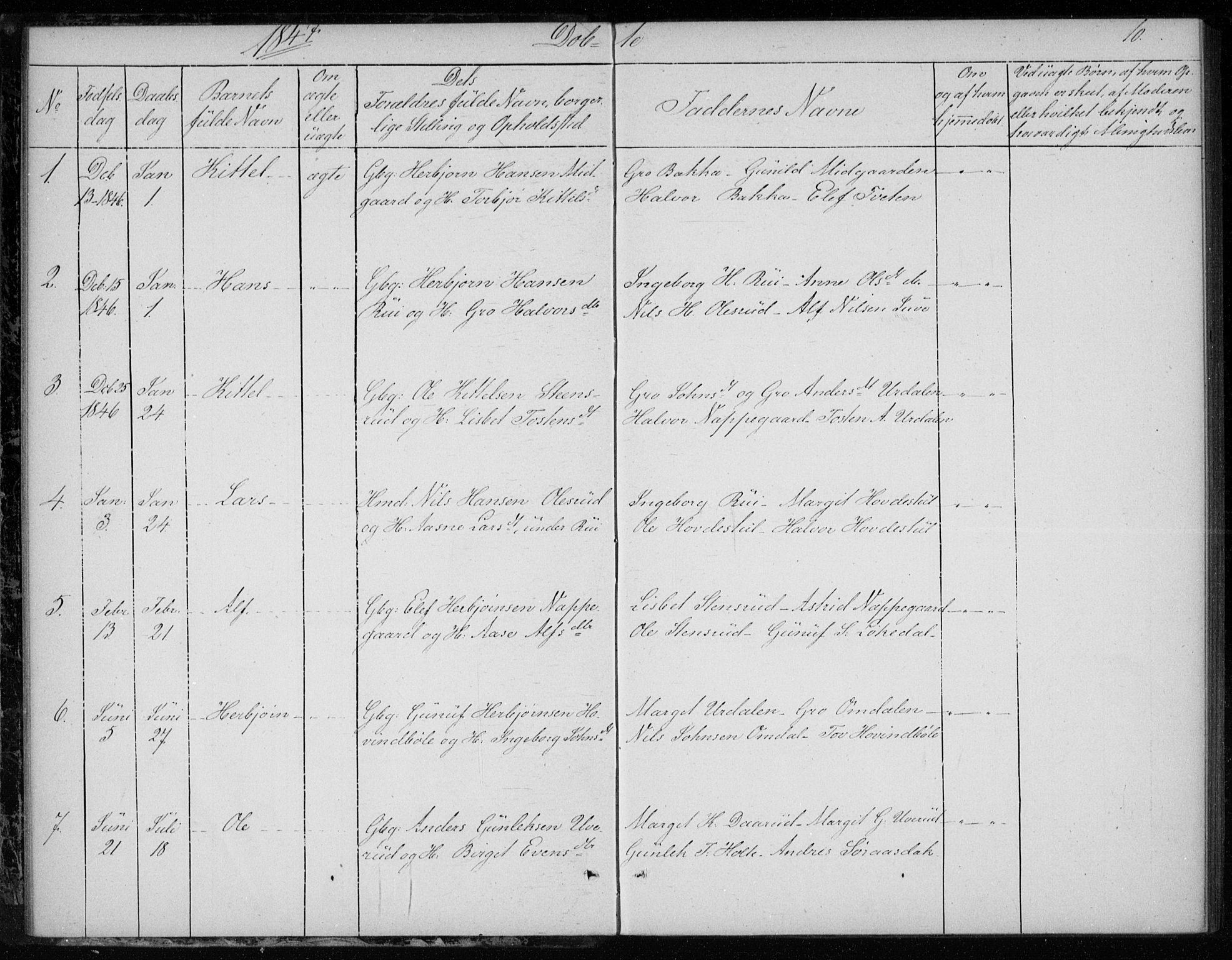 SAKO, Gransherad kirkebøker, F/Fb/L0003: Ministerialbok nr. II 3, 1844-1859, s. 10