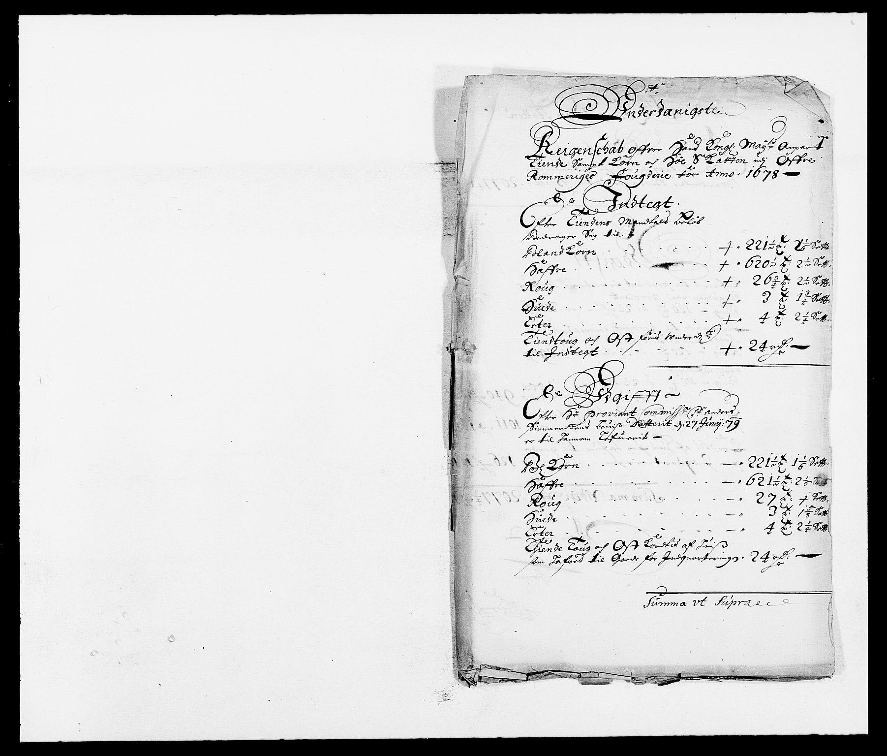 RA, Rentekammeret inntil 1814, Reviderte regnskaper, Fogderegnskap, R12/L0693: Fogderegnskap Øvre Romerike, 1678-1679, s. 86