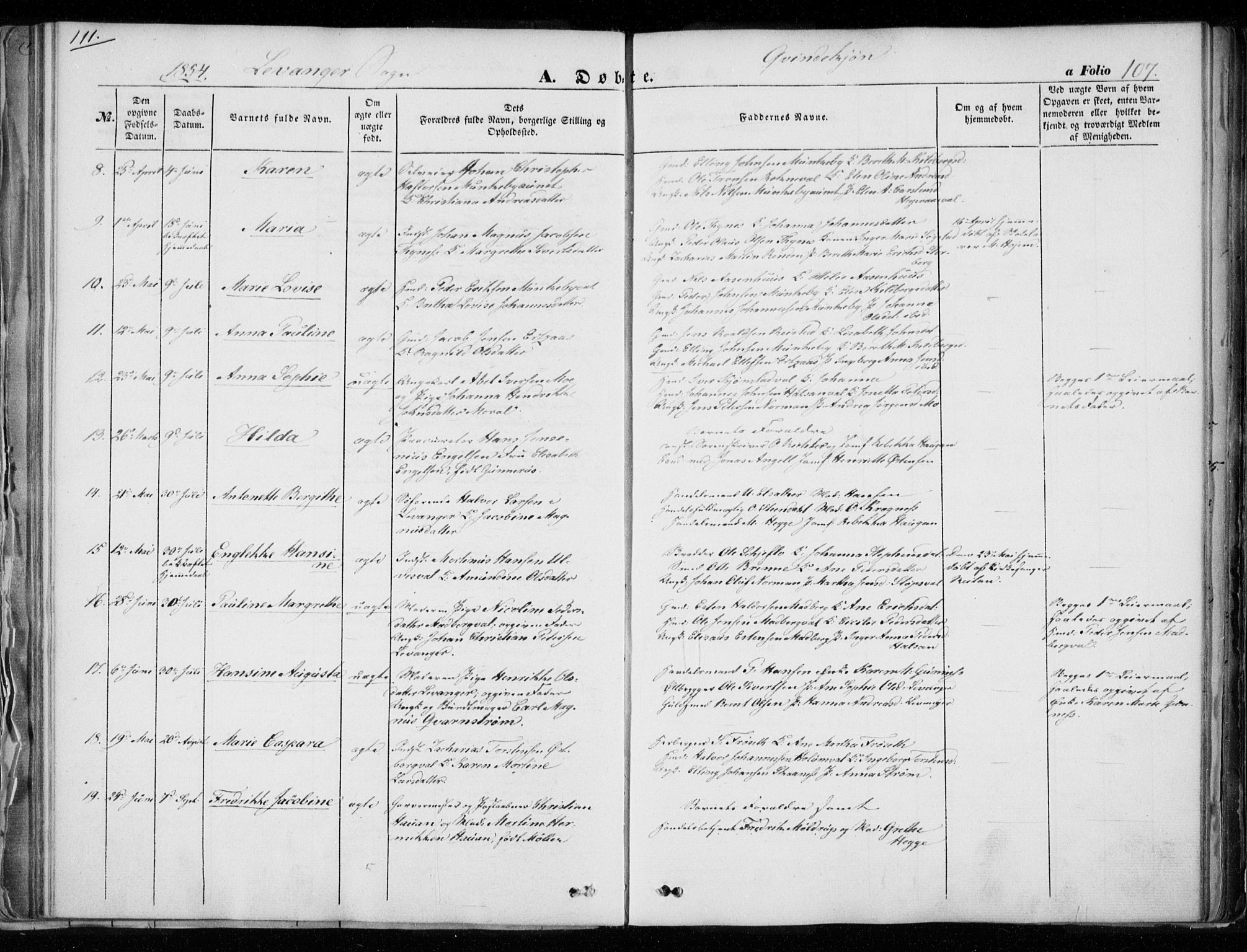 SAT, Ministerialprotokoller, klokkerbøker og fødselsregistre - Nord-Trøndelag, 720/L0183: Ministerialbok nr. 720A01, 1836-1855, s. 107