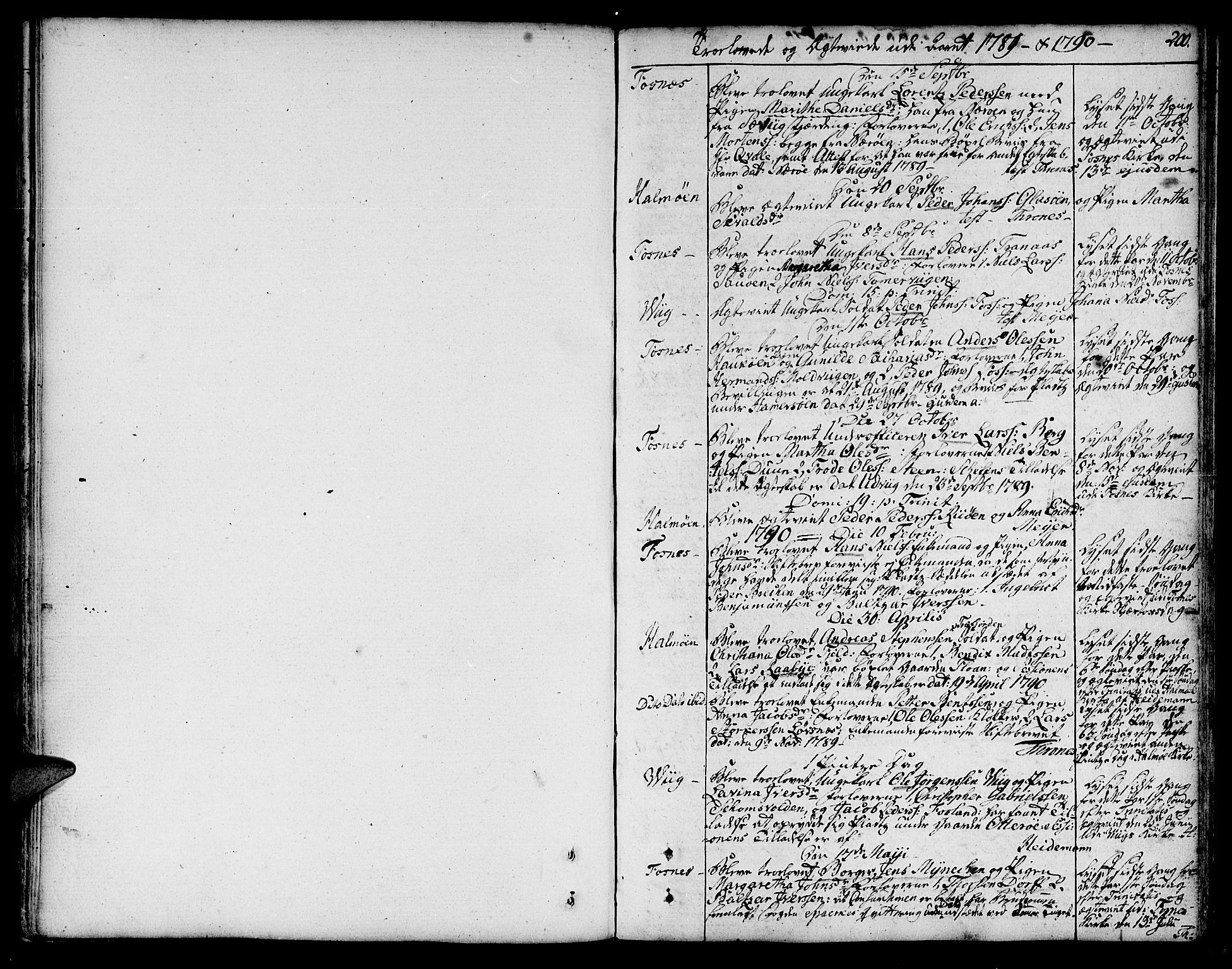 SAT, Ministerialprotokoller, klokkerbøker og fødselsregistre - Nord-Trøndelag, 773/L0608: Ministerialbok nr. 773A02, 1784-1816, s. 200