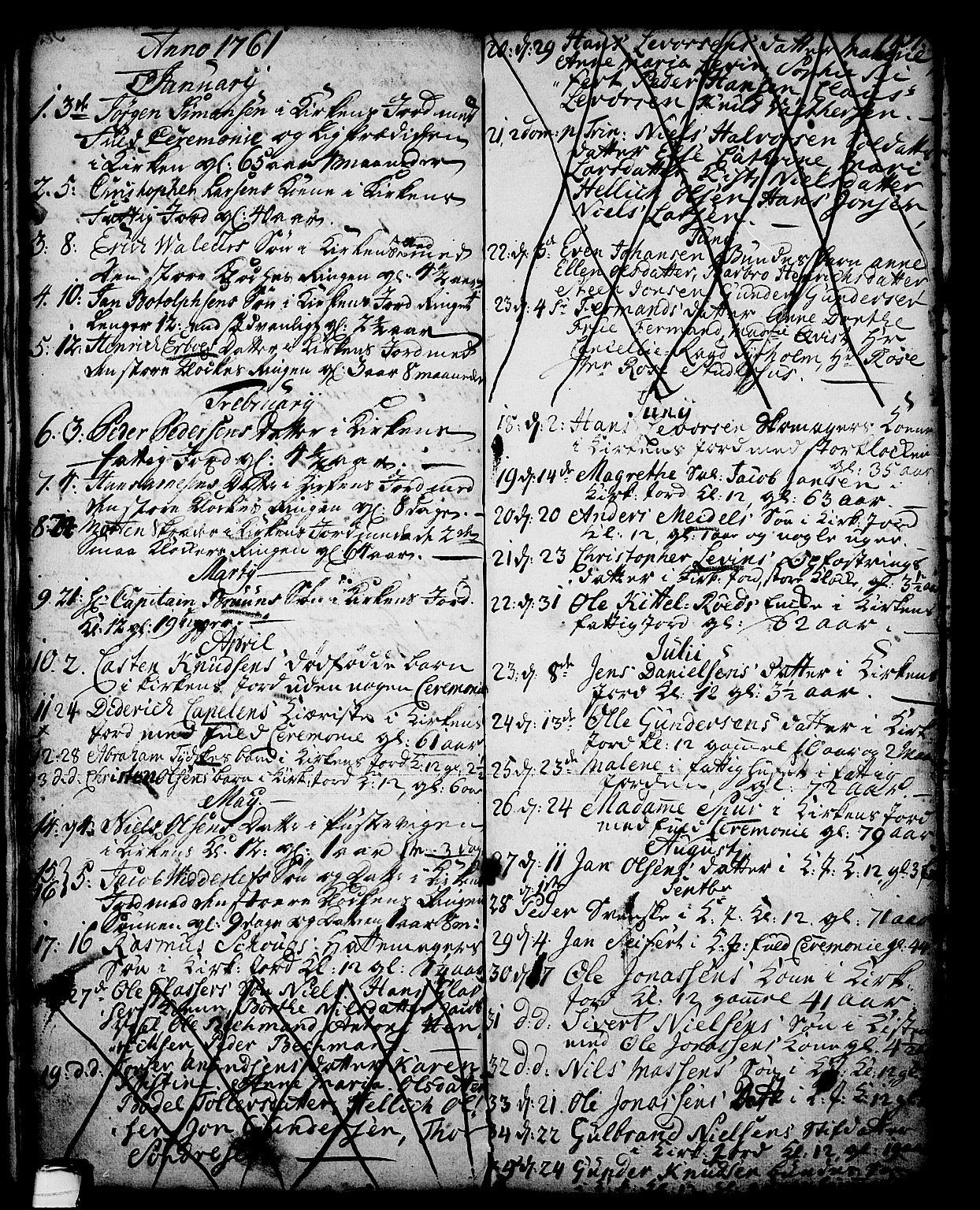 SAKO, Skien kirkebøker, G/Ga/L0001: Klokkerbok nr. 1, 1756-1791, s. 137