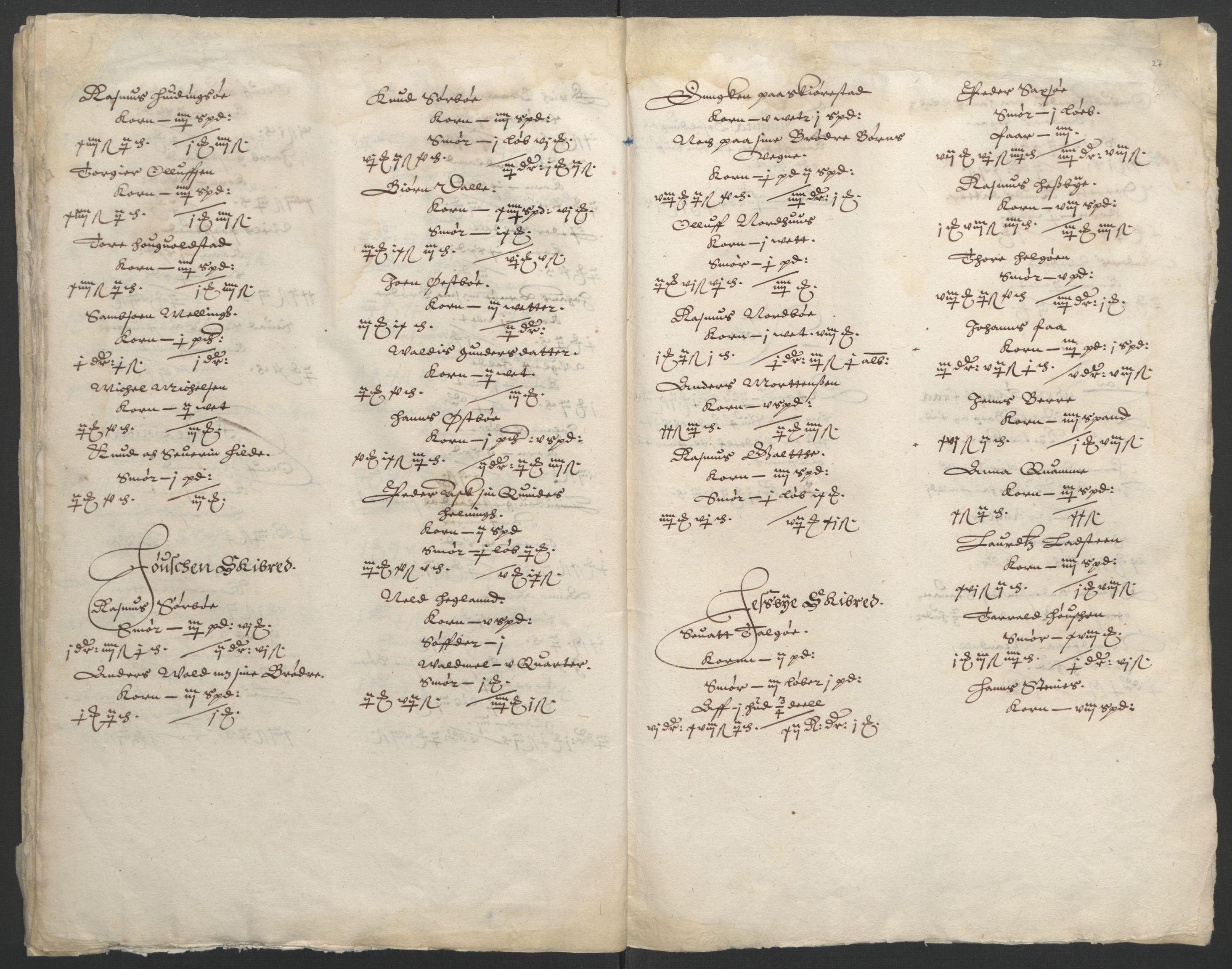 RA, Stattholderembetet 1572-1771, Ek/L0010: Jordebøker til utlikning av rosstjeneste 1624-1626:, 1624-1626, s. 92