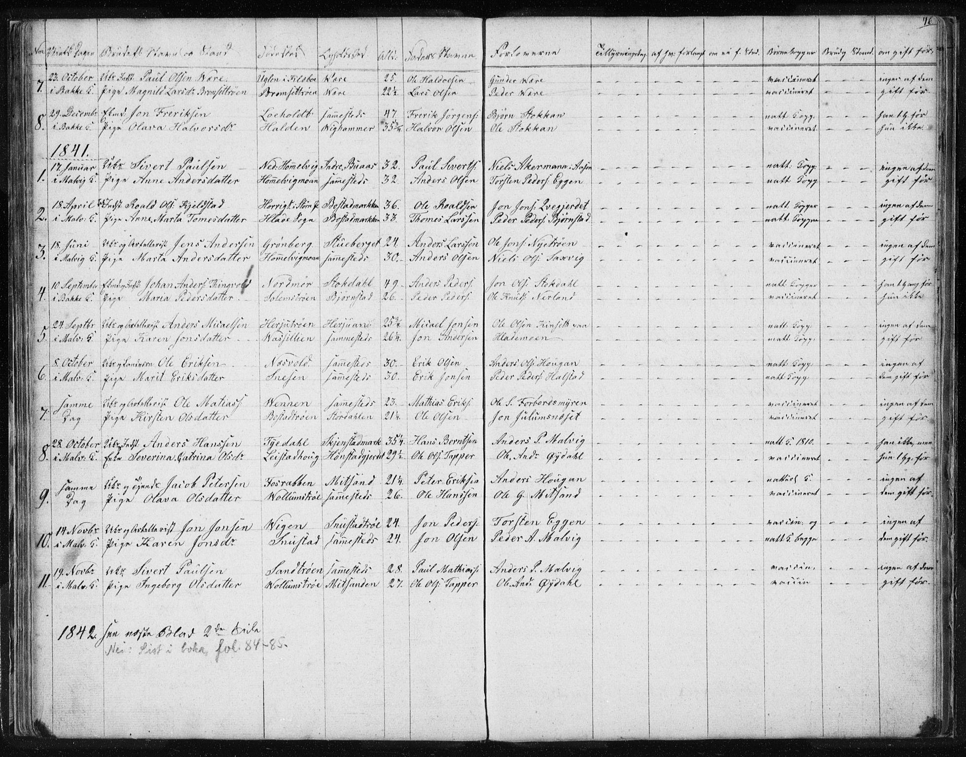 SAT, Ministerialprotokoller, klokkerbøker og fødselsregistre - Sør-Trøndelag, 616/L0405: Ministerialbok nr. 616A02, 1831-1842, s. 46