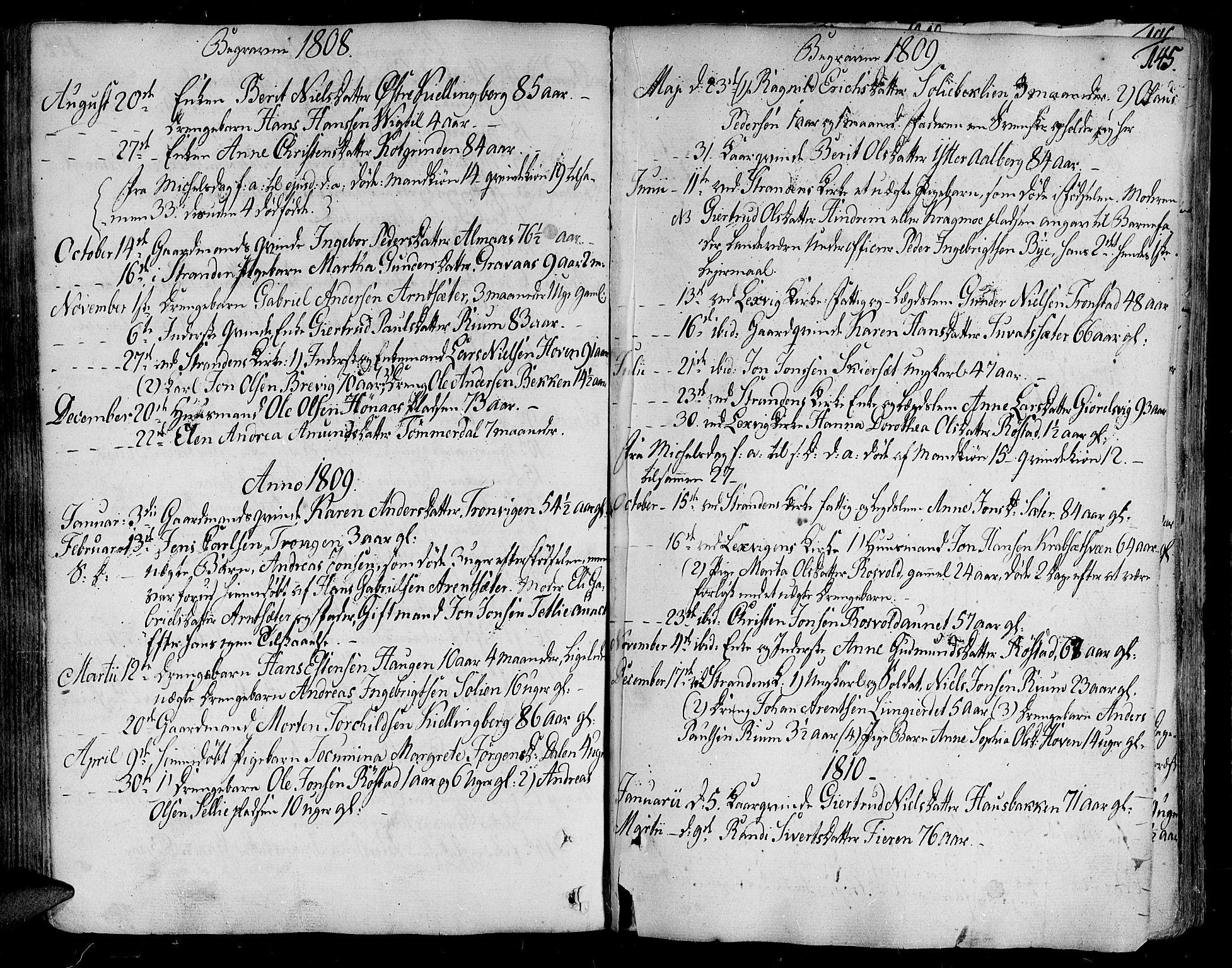 SAT, Ministerialprotokoller, klokkerbøker og fødselsregistre - Nord-Trøndelag, 701/L0004: Ministerialbok nr. 701A04, 1783-1816, s. 145