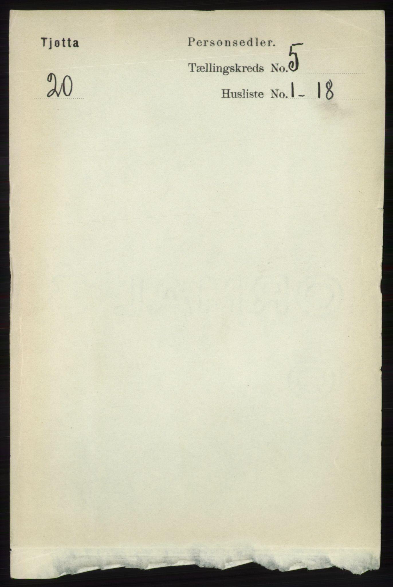 RA, Folketelling 1891 for 1817 Tjøtta herred, 1891, s. 2377