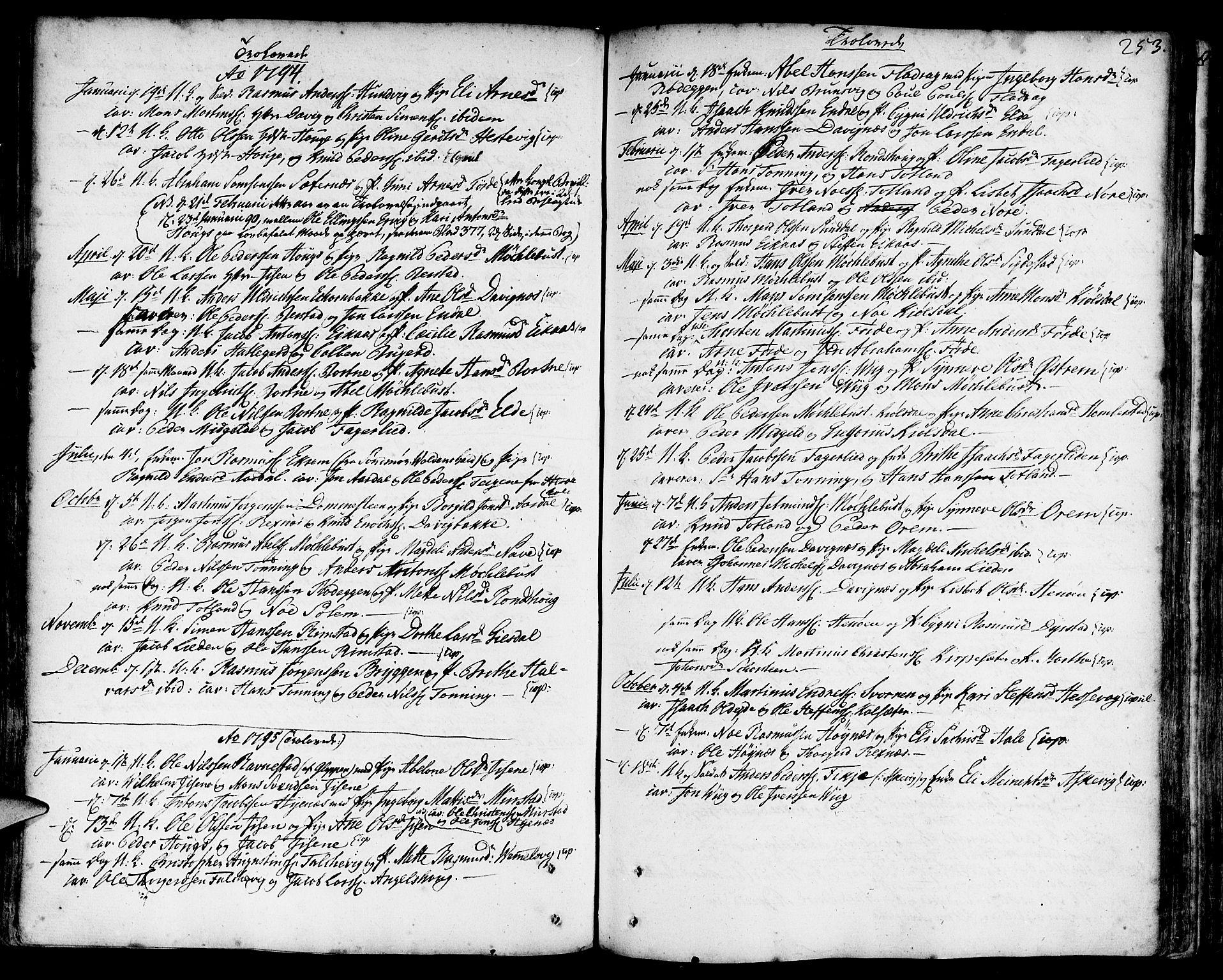 SAB, Davik Sokneprestembete, Ministerialbok nr. A 2, 1742-1816, s. 253