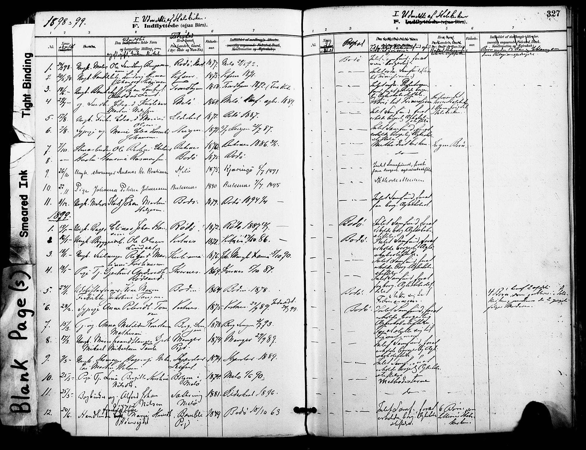 SAT, Ministerialprotokoller, klokkerbøker og fødselsregistre - Nordland, 801/L0010: Ministerialbok nr. 801A10, 1888-1899, s. 327