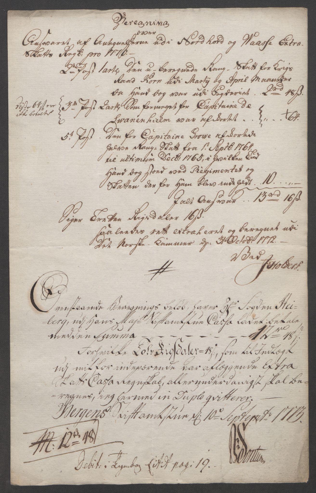 RA, Rentekammeret inntil 1814, Reviderte regnskaper, Fogderegnskap, R51/L3303: Ekstraskatten Nordhordland og Voss, 1762-1772, s. 706
