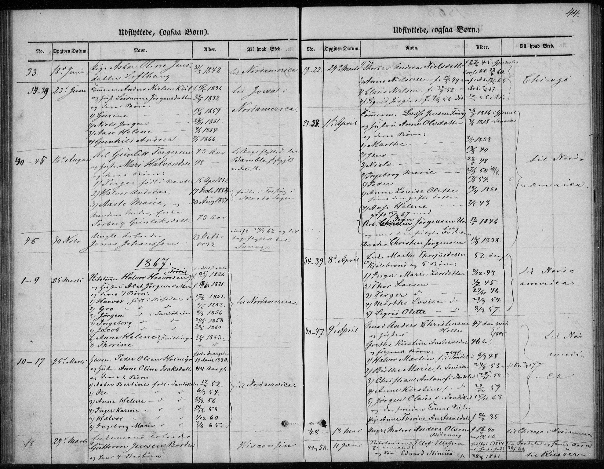 SAKO, Sannidal kirkebøker, F/Fa/L0013: Ministerialbok nr. 13, 1854-1873, s. 44