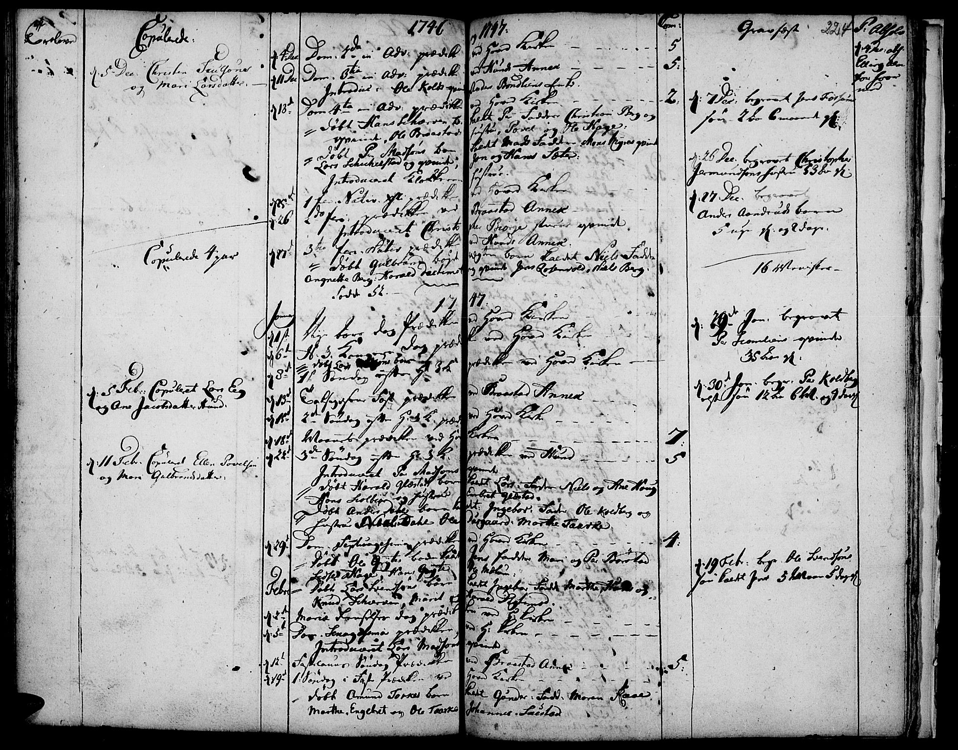 SAH, Vardal prestekontor, H/Ha/Haa/L0001: Ministerialbok nr. 1, 1706-1748, s. 224