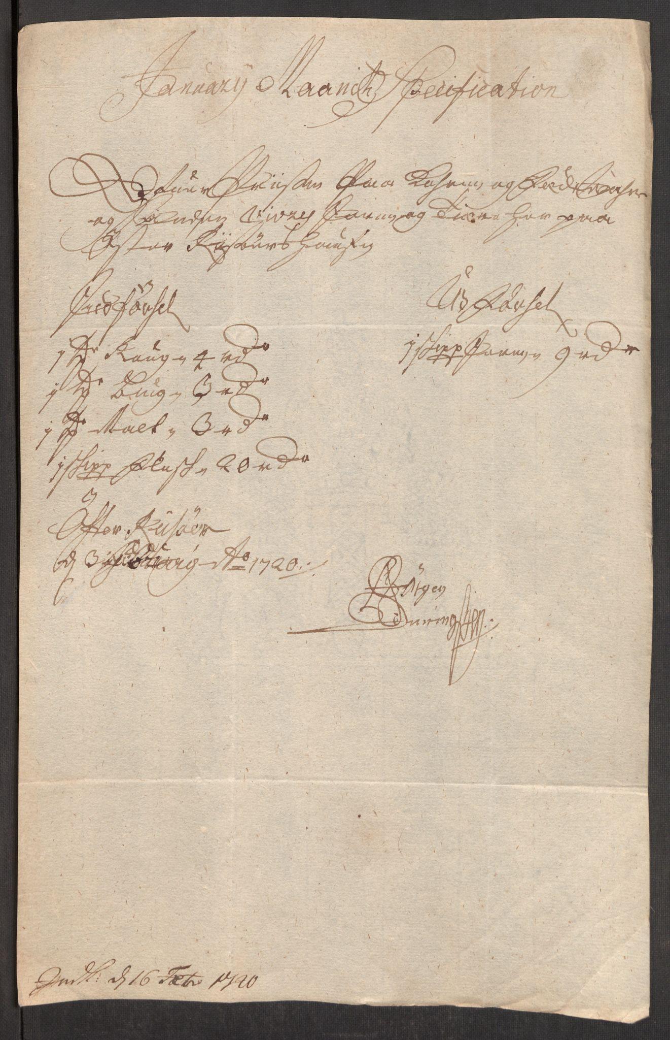 RA, Rentekammeret inntil 1814, Realistisk ordnet avdeling, Oe/L0001: [Ø1]: Priskuranter, 1712-1739, s. 226