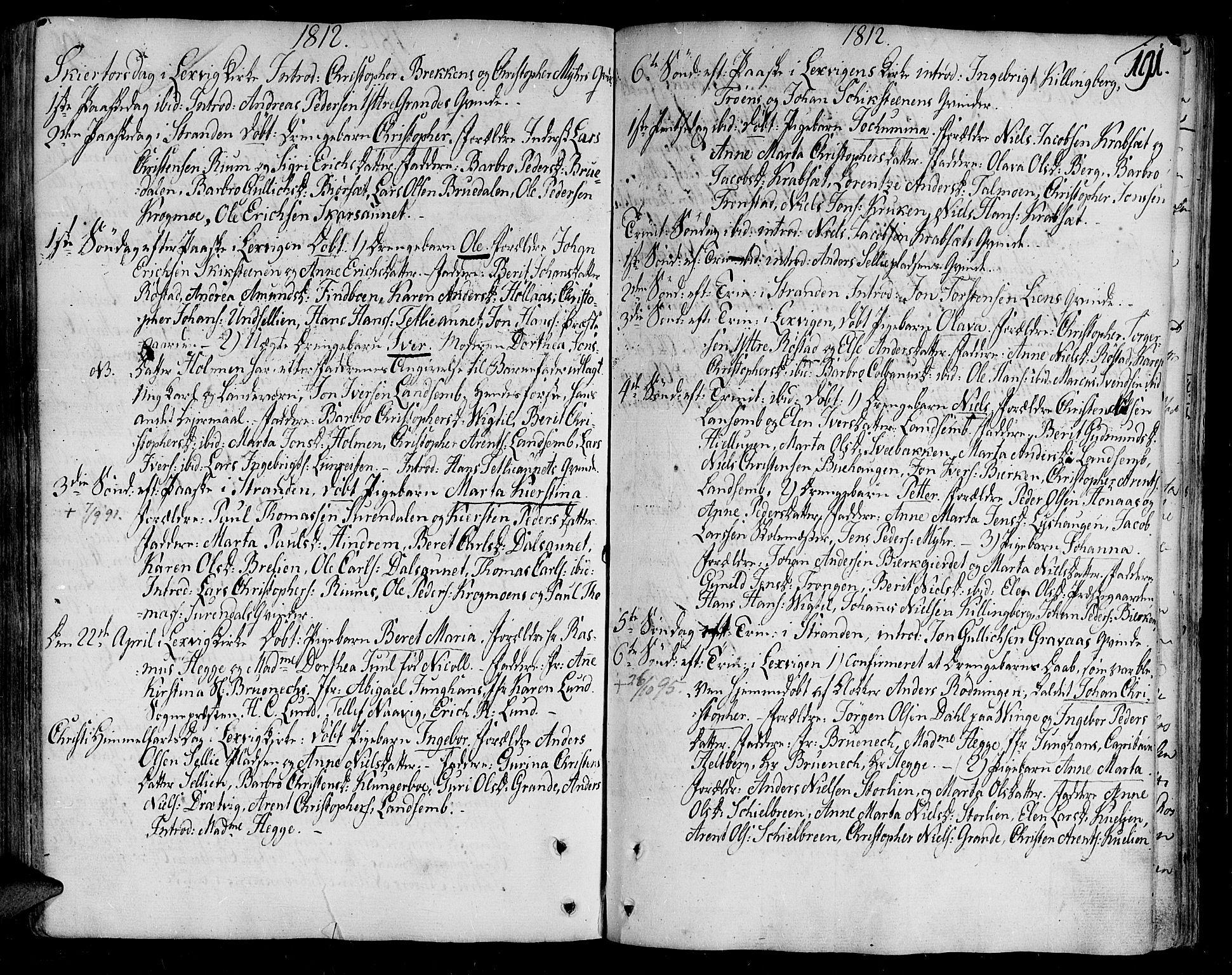 SAT, Ministerialprotokoller, klokkerbøker og fødselsregistre - Nord-Trøndelag, 701/L0004: Ministerialbok nr. 701A04, 1783-1816, s. 191
