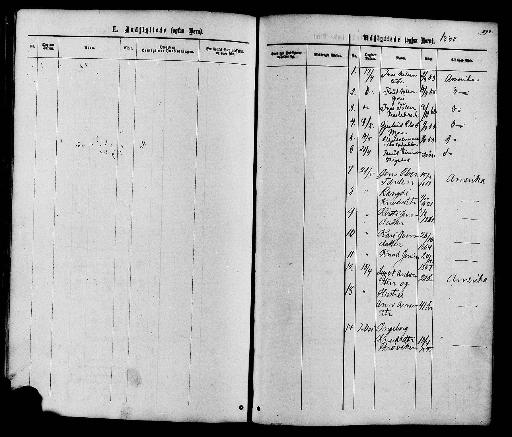 SAH, Vestre Slidre prestekontor, Ministerialbok nr. 3, 1865-1880, s. 293