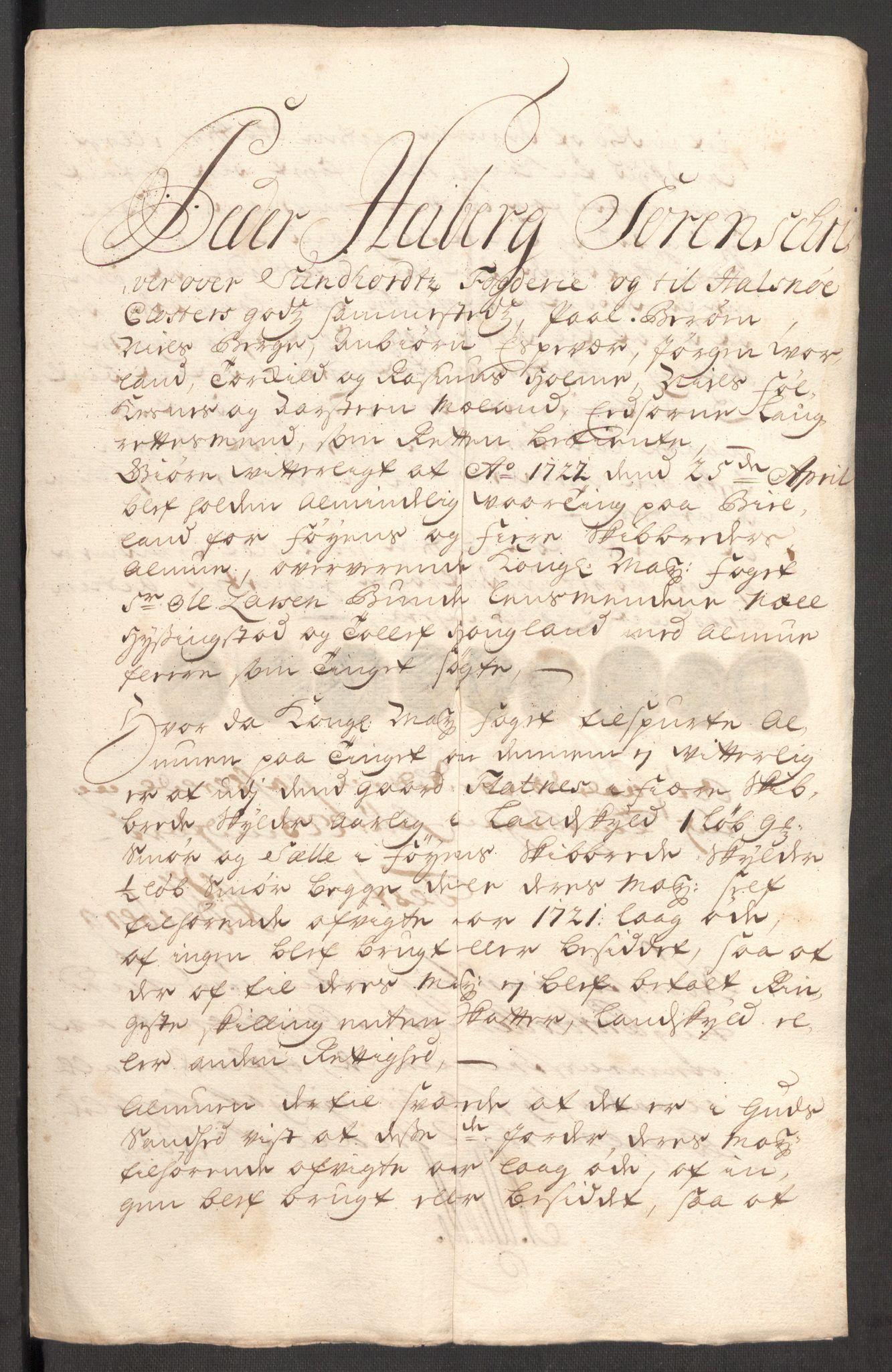RA, Rentekammeret inntil 1814, Reviderte regnskaper, Fogderegnskap, R48/L3000: Fogderegnskap Sunnhordland og Hardanger, 1721, s. 282