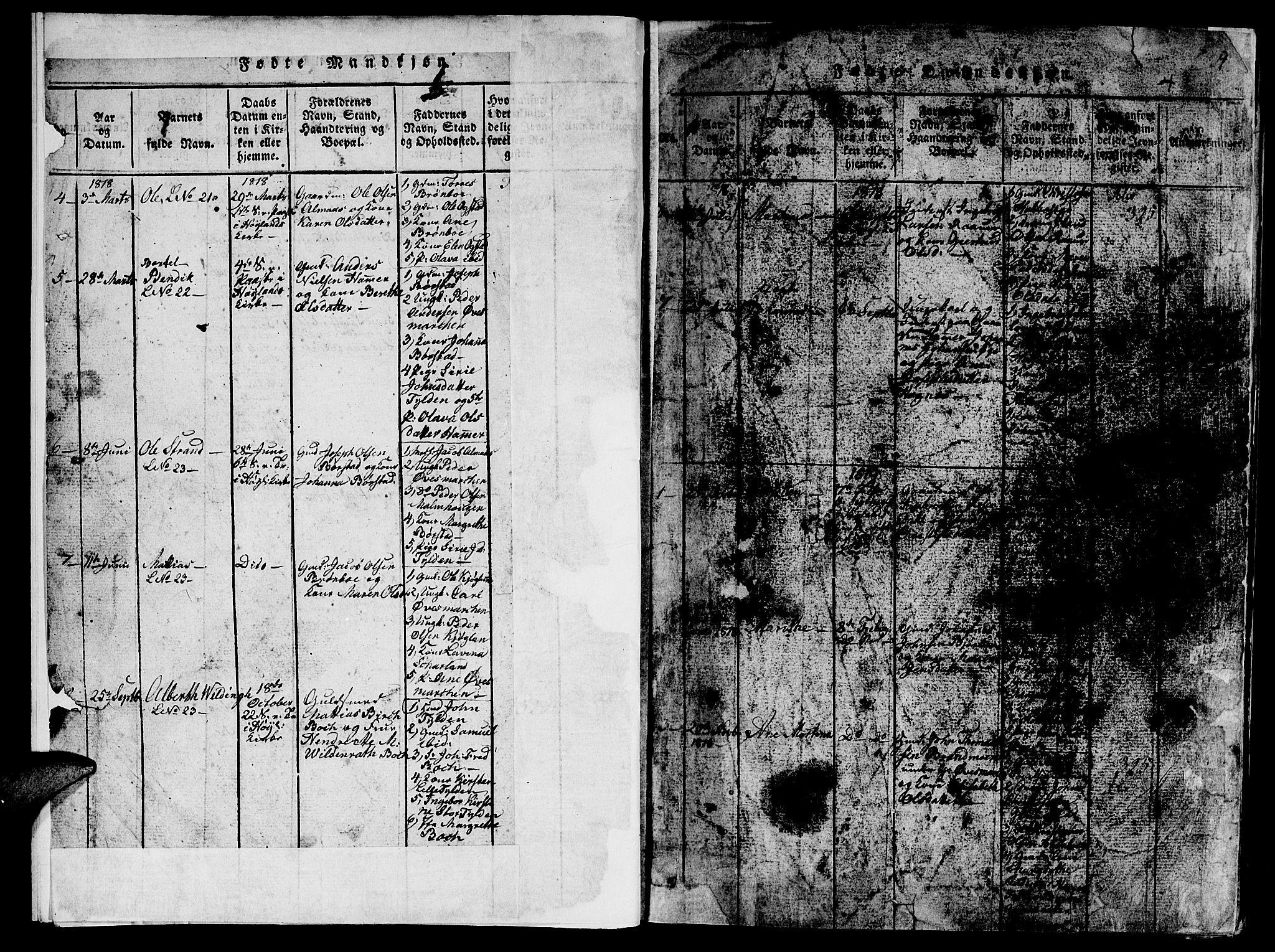 SAT, Ministerialprotokoller, klokkerbøker og fødselsregistre - Nord-Trøndelag, 765/L0562: Klokkerbok nr. 765C01, 1817-1851, s. 4