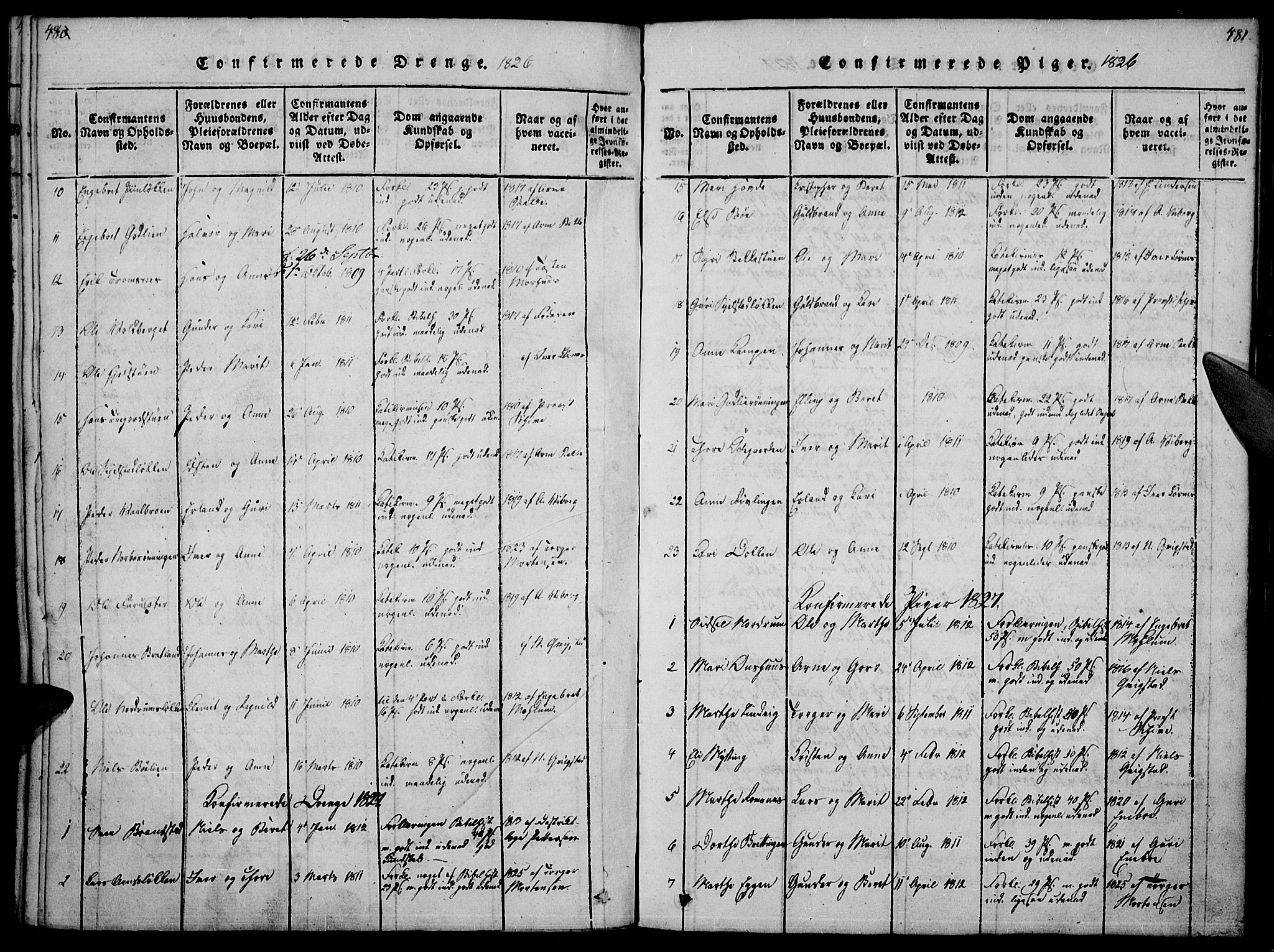 SAH, Ringebu prestekontor, Ministerialbok nr. 4, 1821-1839, s. 480-481
