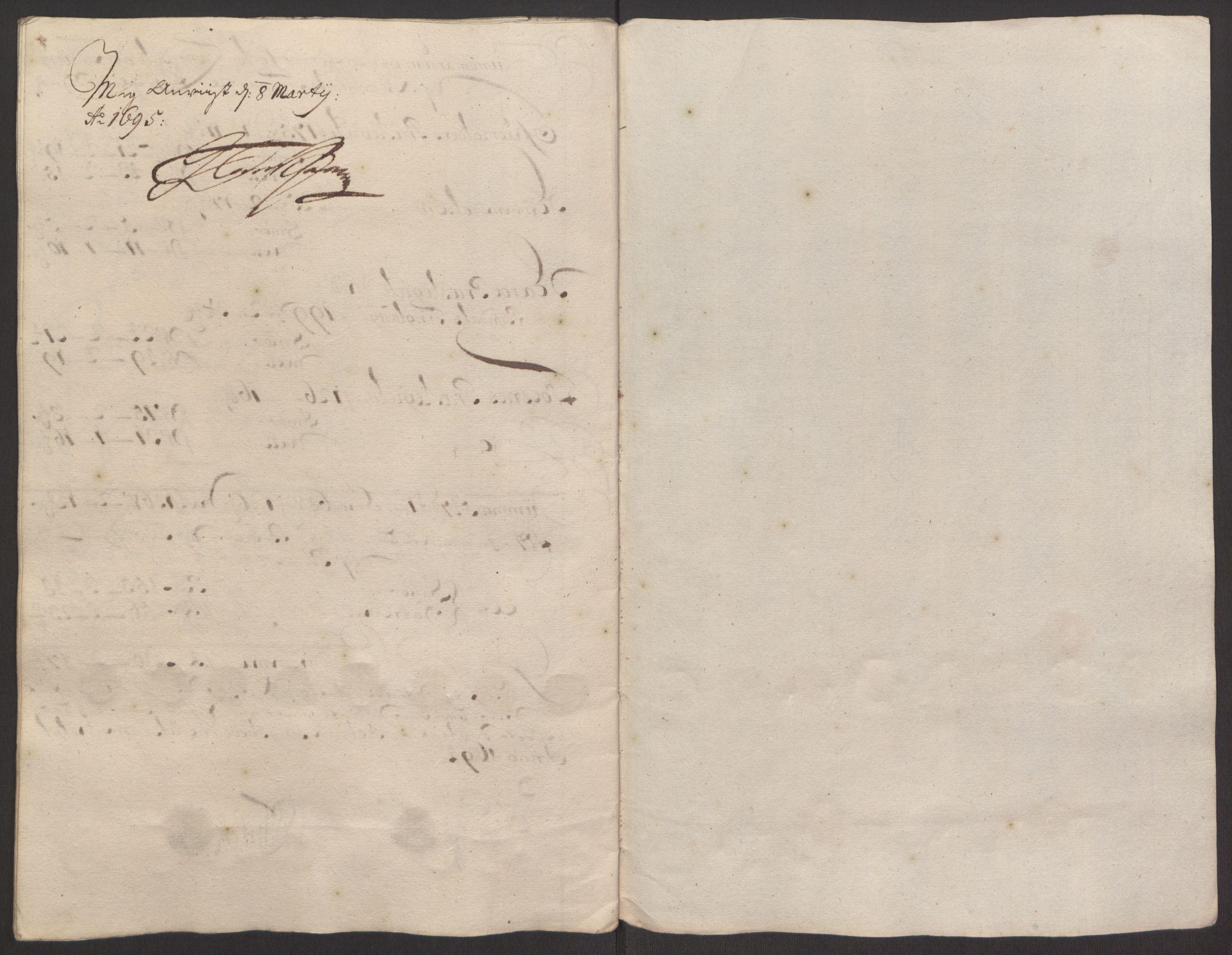 RA, Rentekammeret inntil 1814, Reviderte regnskaper, Fogderegnskap, R64/L4424: Fogderegnskap Namdal, 1692-1695, s. 388