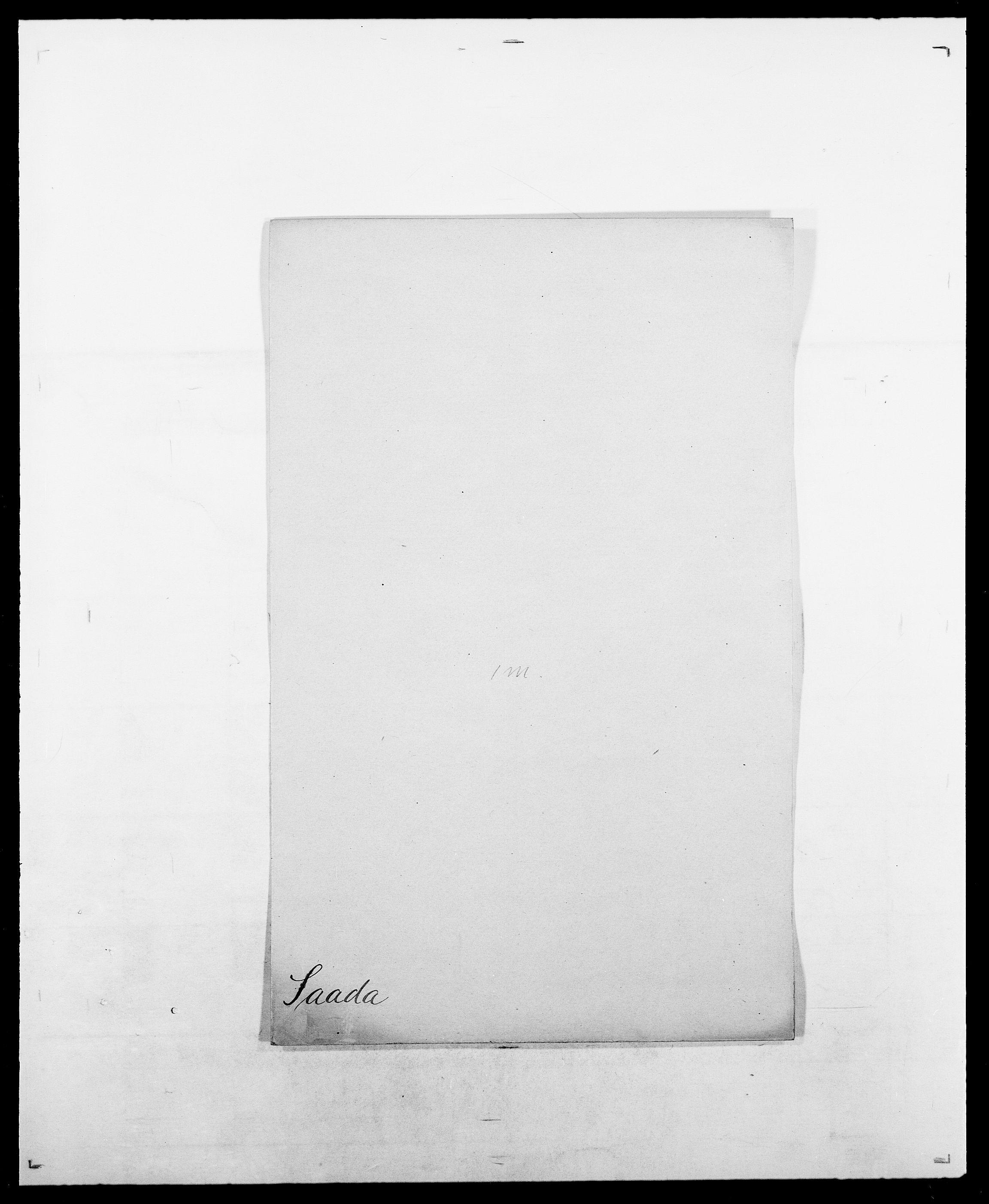 SAO, Delgobe, Charles Antoine - samling, D/Da/L0034: Saabye - Schmincke, s. 6