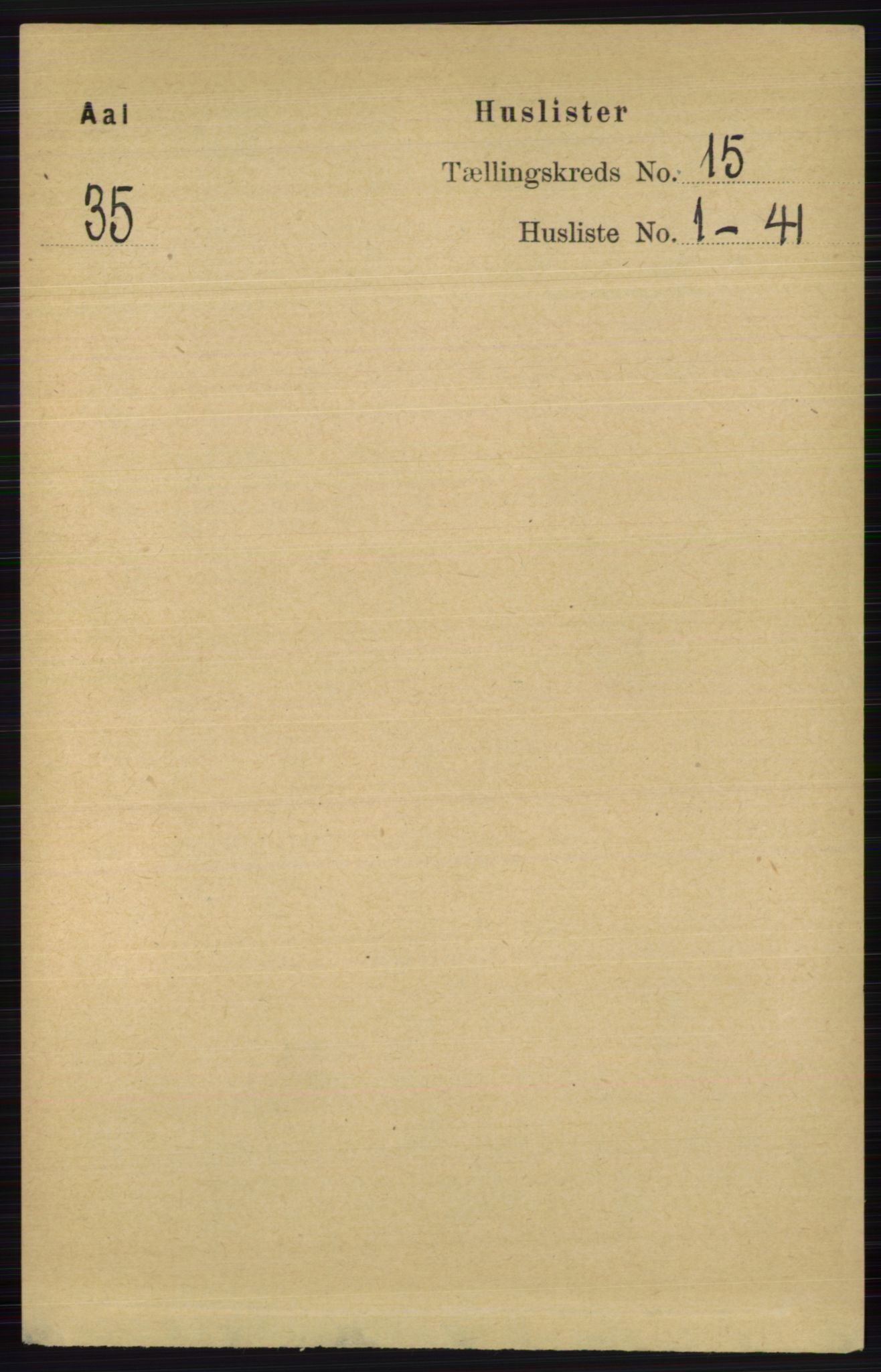 RA, Folketelling 1891 for 0619 Ål herred, 1891, s. 3708