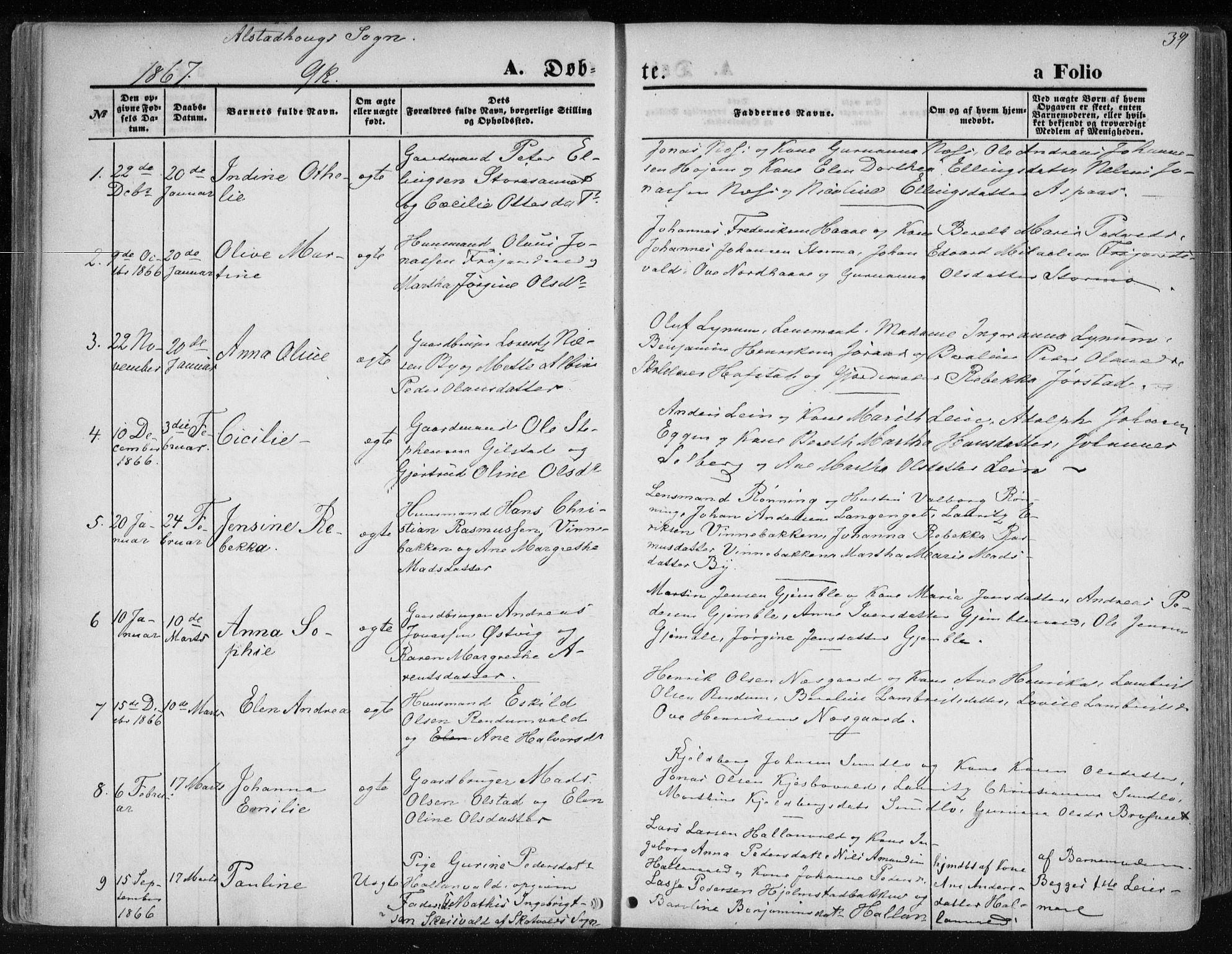 SAT, Ministerialprotokoller, klokkerbøker og fødselsregistre - Nord-Trøndelag, 717/L0157: Ministerialbok nr. 717A08 /1, 1863-1877, s. 39