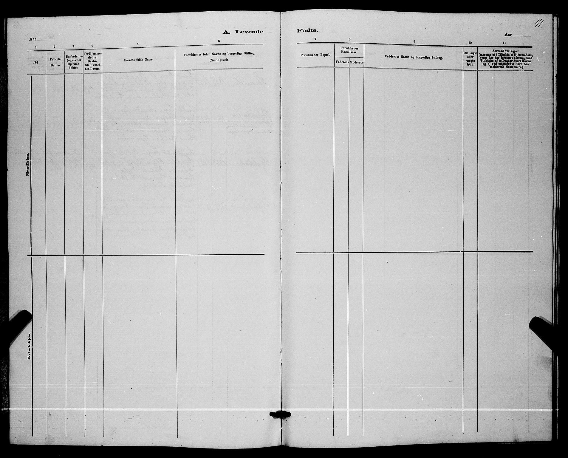 SAKO, Lunde kirkebøker, G/Ga/L0001b: Klokkerbok nr. I 1, 1879-1887, s. 41