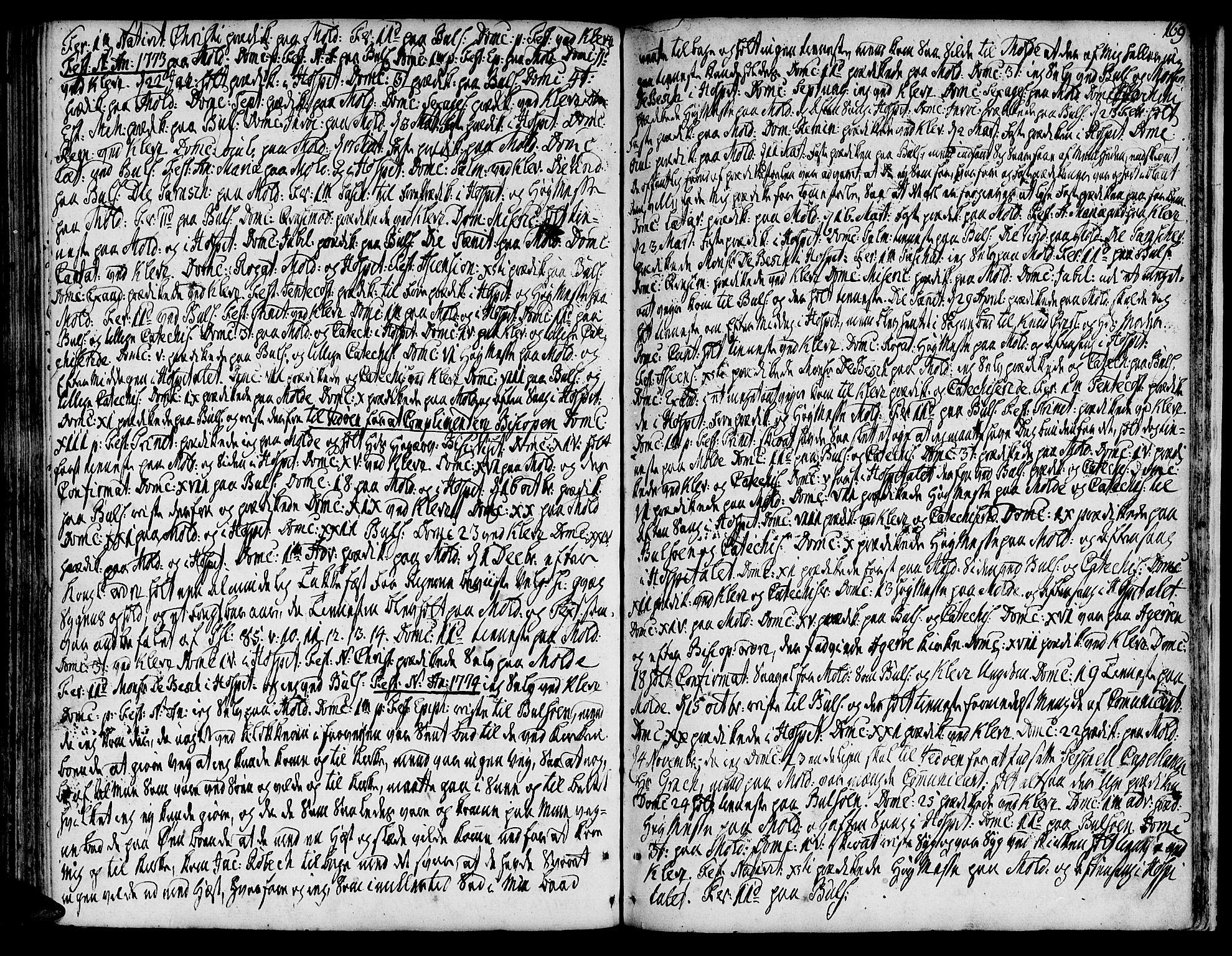 SAT, Ministerialprotokoller, klokkerbøker og fødselsregistre - Møre og Romsdal, 555/L0648: Ministerialbok nr. 555A01, 1759-1793, s. 169