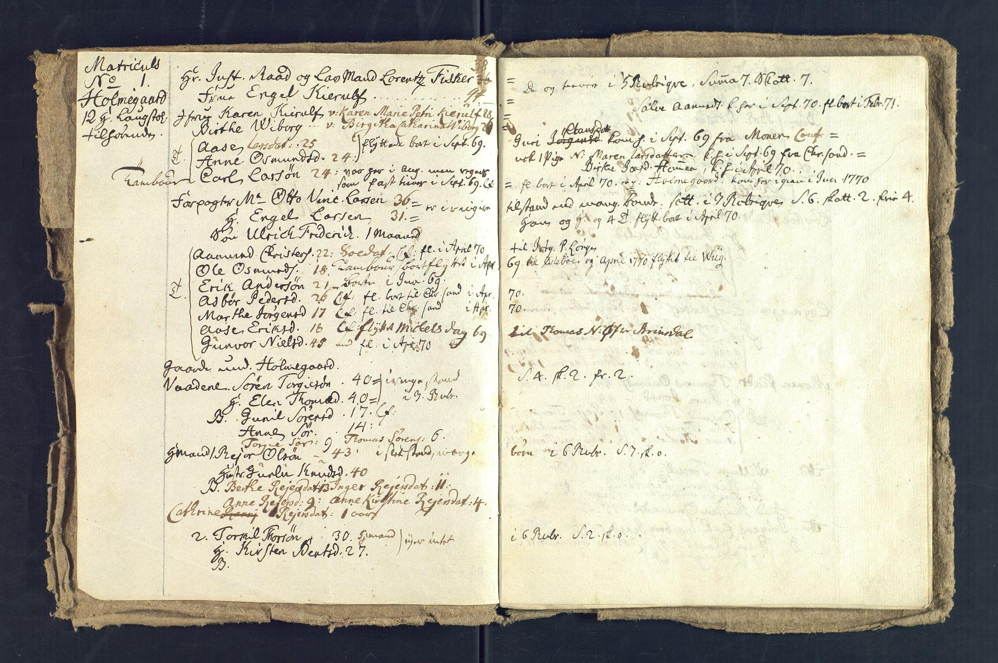 SAK, Holum sokneprestkontor, Andre øvrighetsfunksjoner, nr. 5: Manntall over alle mennesker som befant seg i Holum sokn 15. august 1769, 1769-1771, s. 3