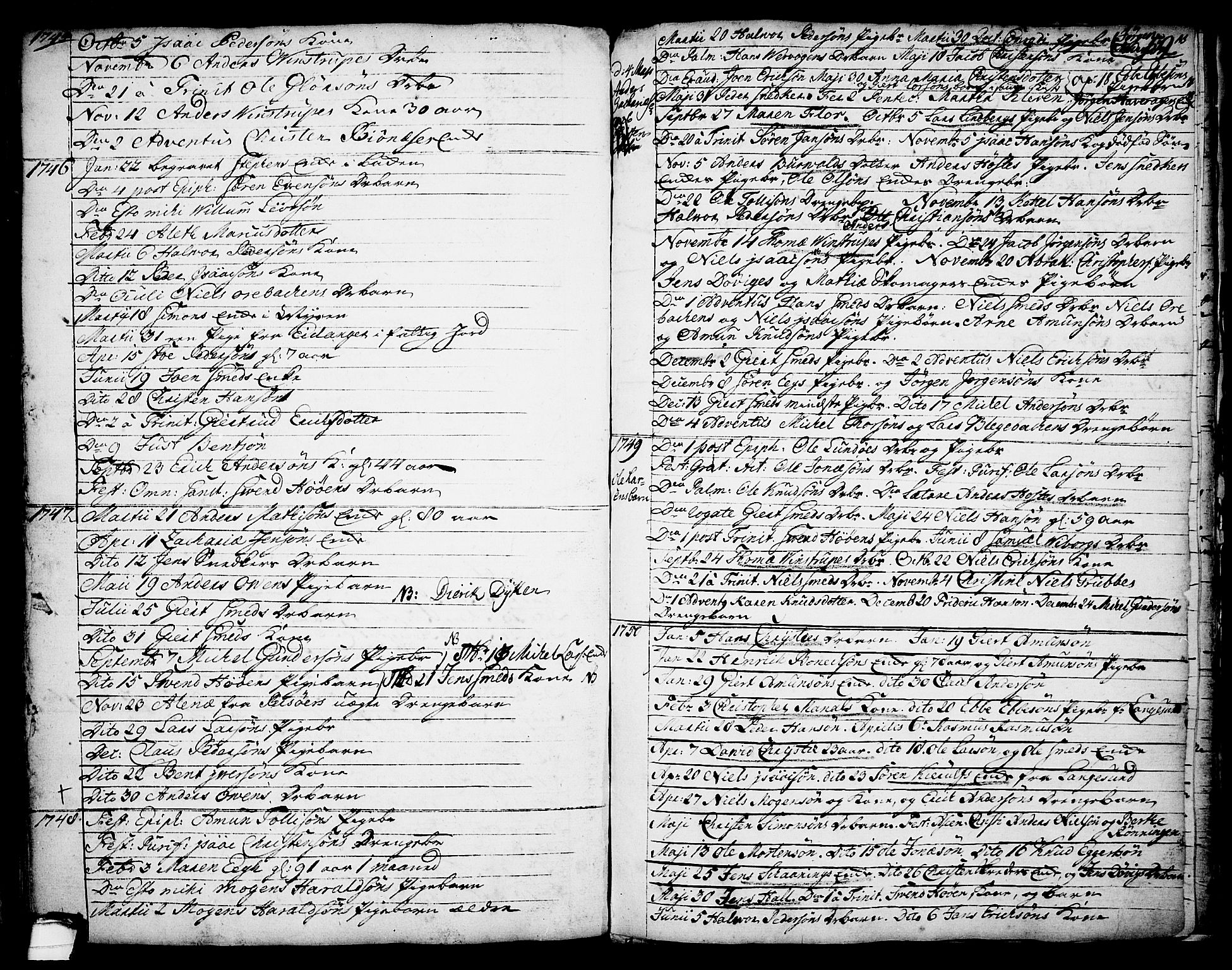 SAKO, Brevik kirkebøker, F/Fa/L0002: Ministerialbok nr. 2, 1720-1764, s. 58b
