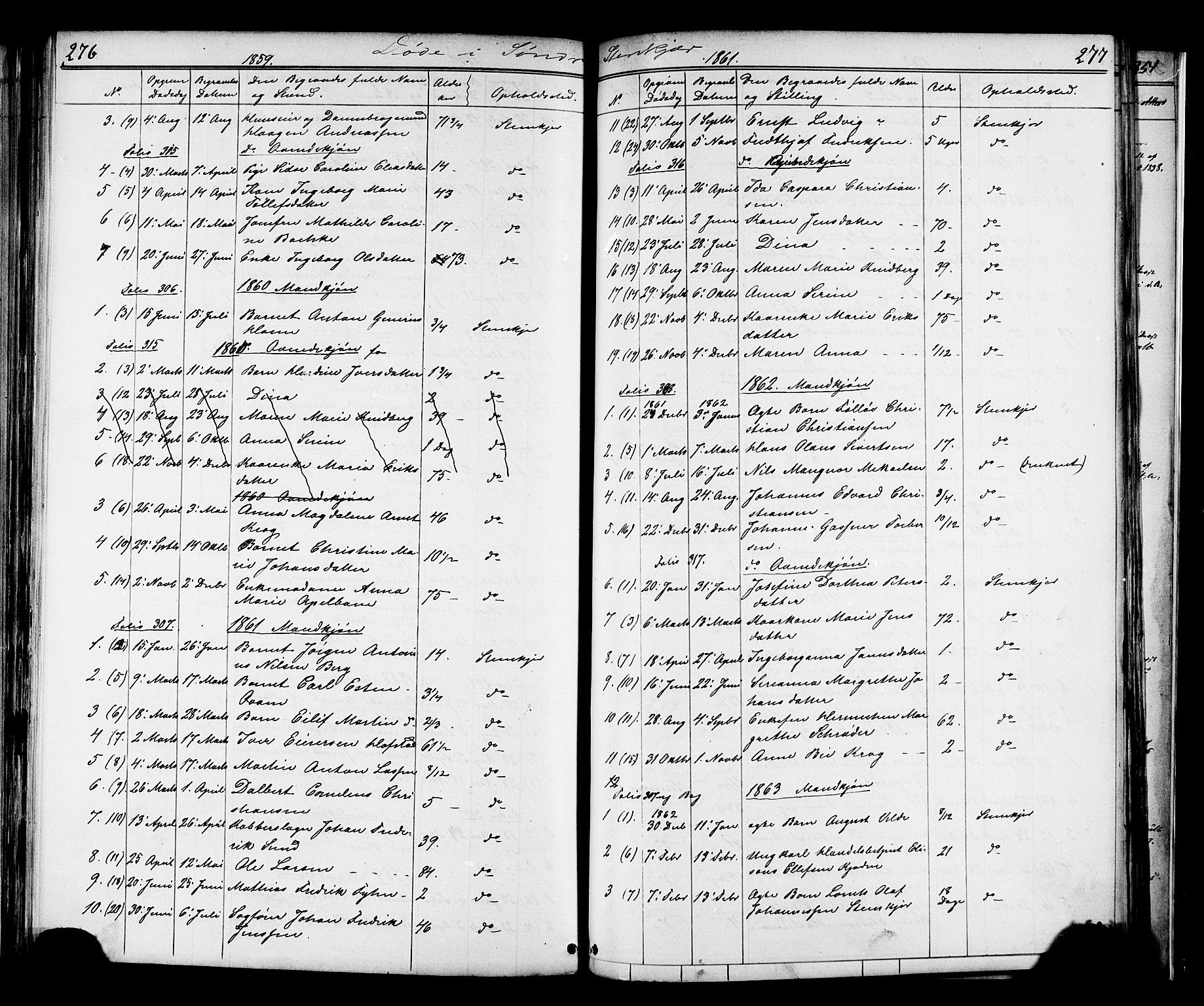SAT, Ministerialprotokoller, klokkerbøker og fødselsregistre - Nord-Trøndelag, 739/L0367: Ministerialbok nr. 739A01 /1, 1838-1868, s. 276-277