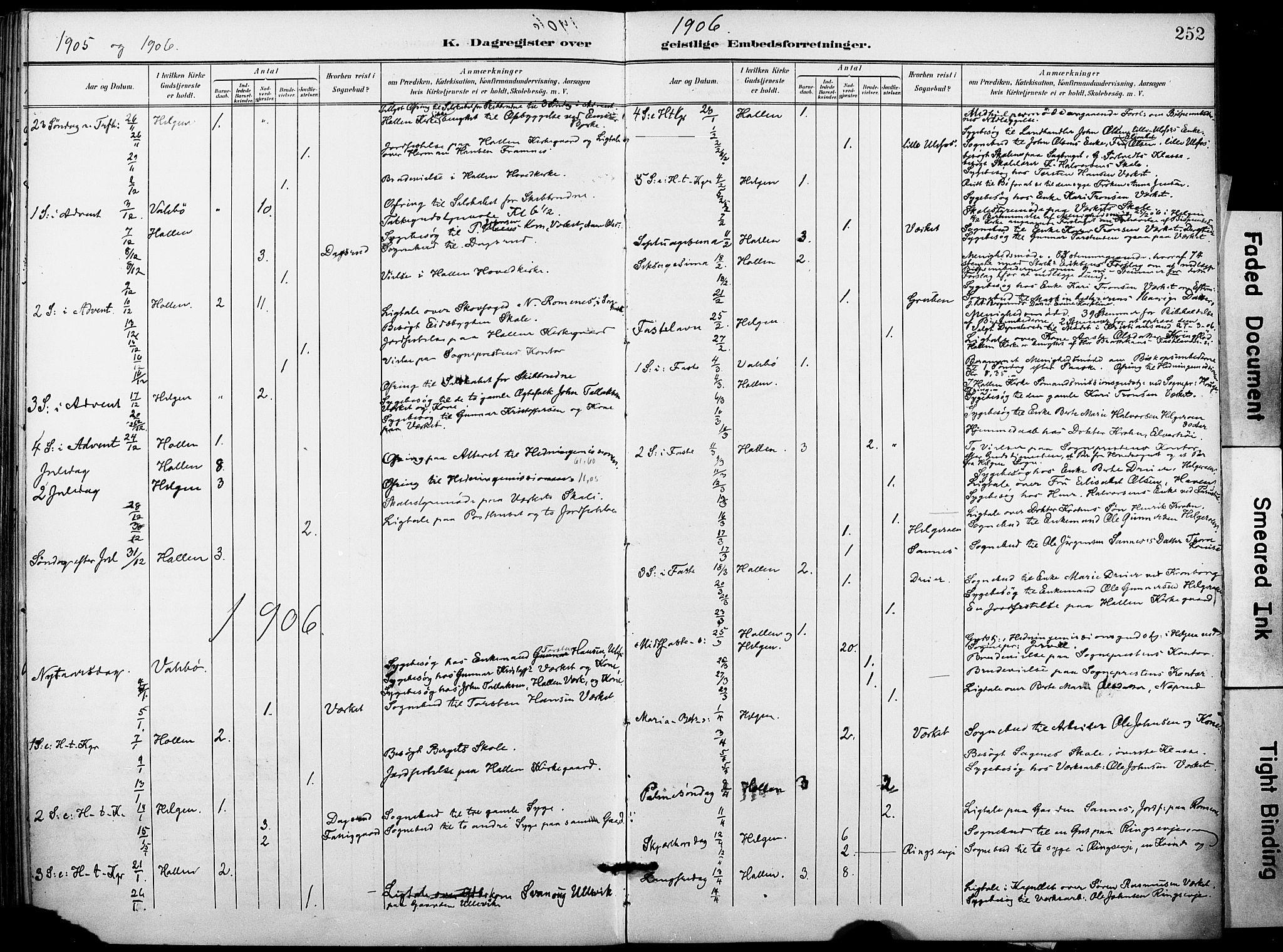 SAKO, Holla kirkebøker, F/Fa/L0010: Ministerialbok nr. 10, 1897-1907, s. 252