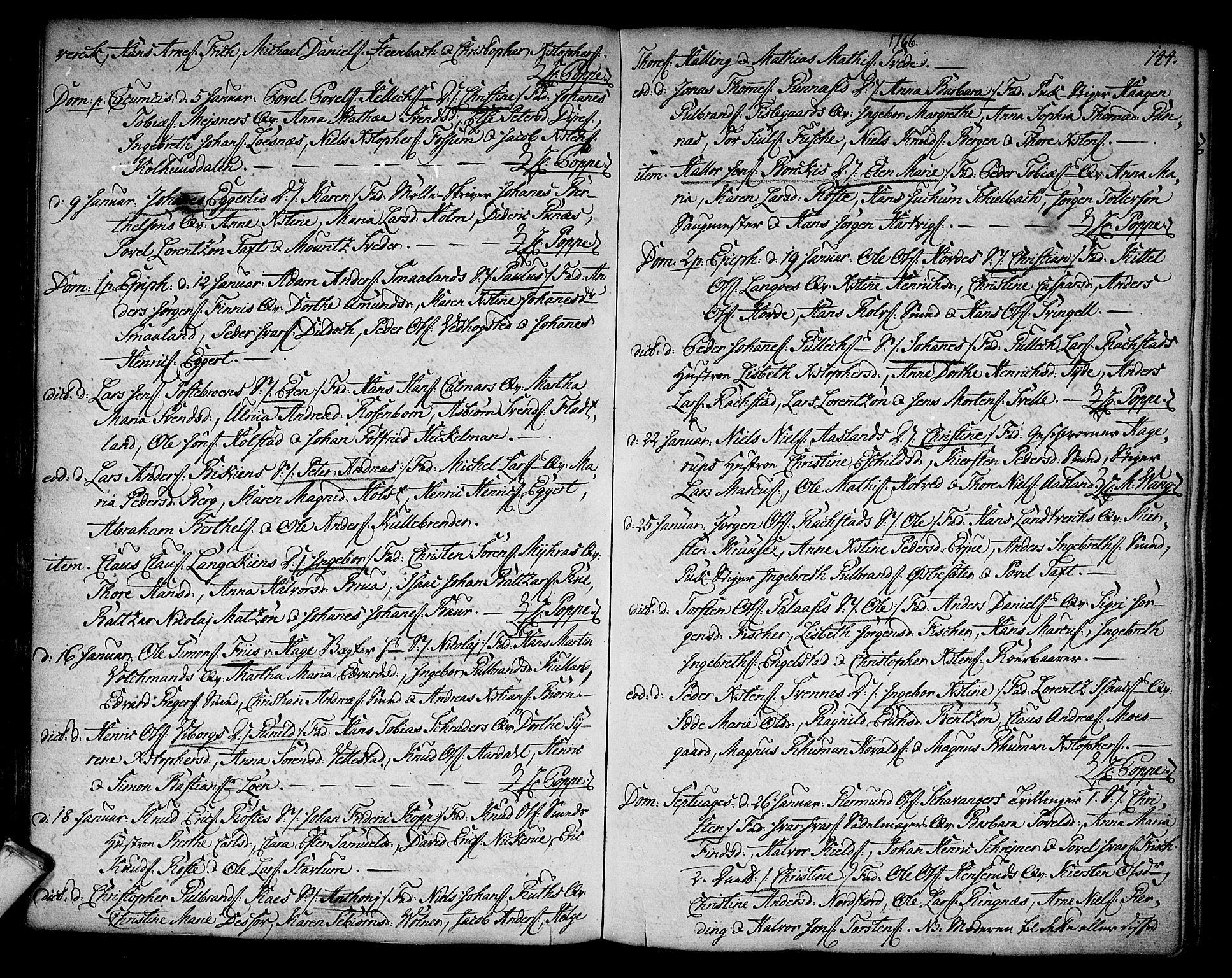 SAKO, Kongsberg kirkebøker, F/Fa/L0004: Ministerialbok nr. I 4, 1756-1768, s. 144