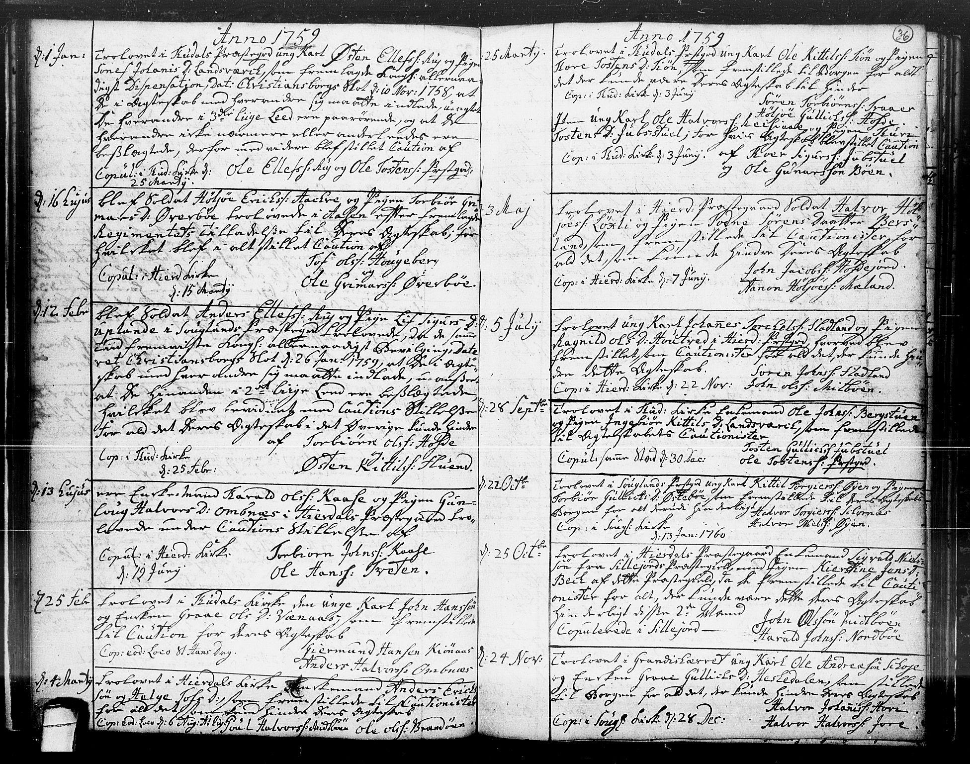 SAKO, Hjartdal kirkebøker, F/Fa/L0004: Ministerialbok nr. I 4, 1727-1795, s. 36