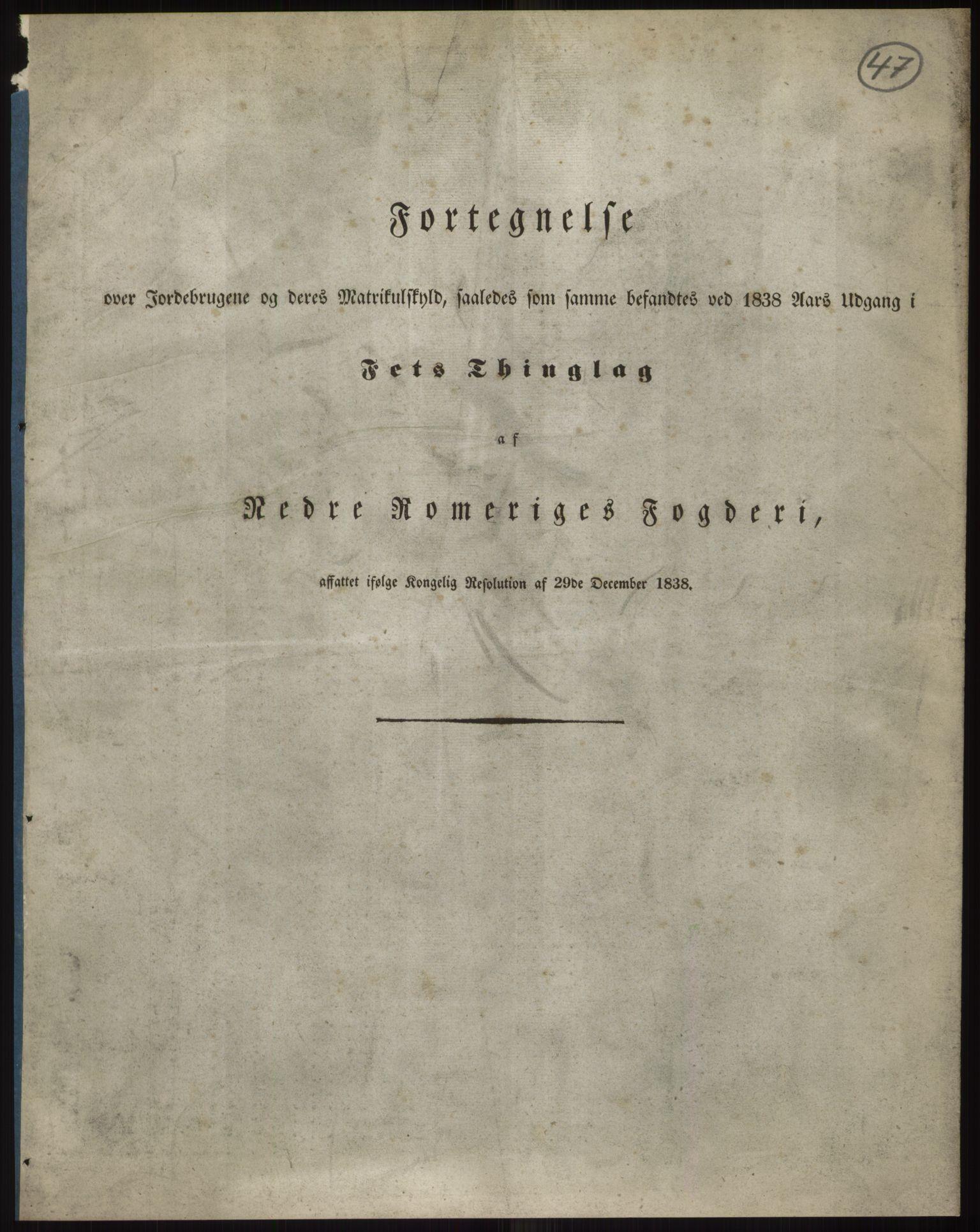 RA, 1838-matrikkelen (publikasjon)*, 1838, s. 47