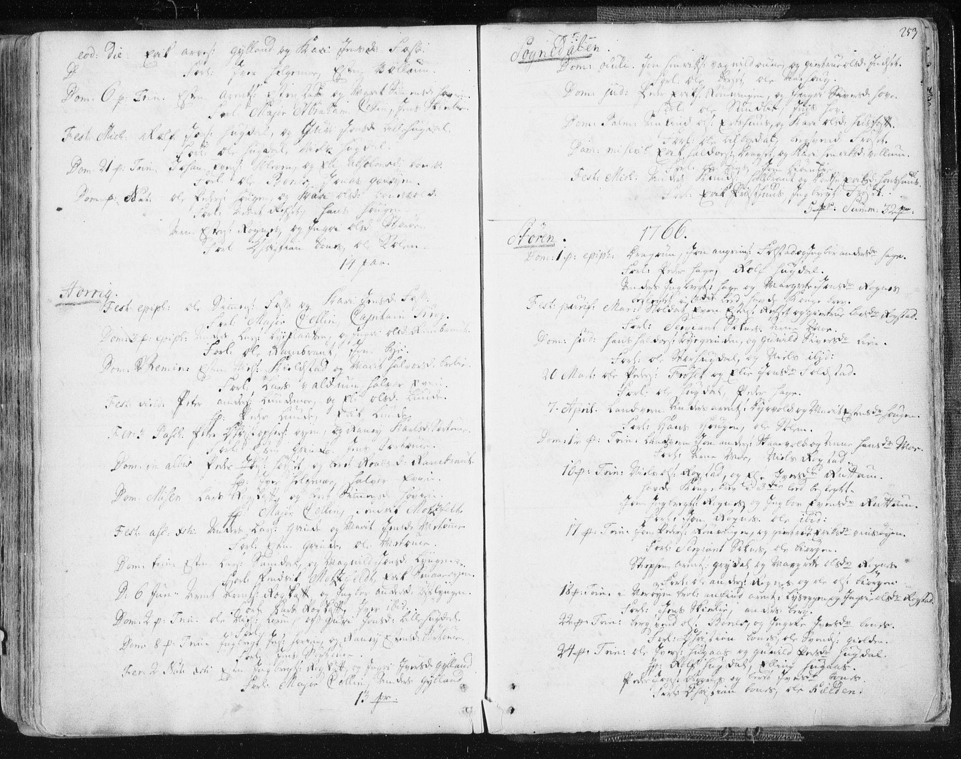 SAT, Ministerialprotokoller, klokkerbøker og fødselsregistre - Sør-Trøndelag, 687/L0991: Ministerialbok nr. 687A02, 1747-1790, s. 253