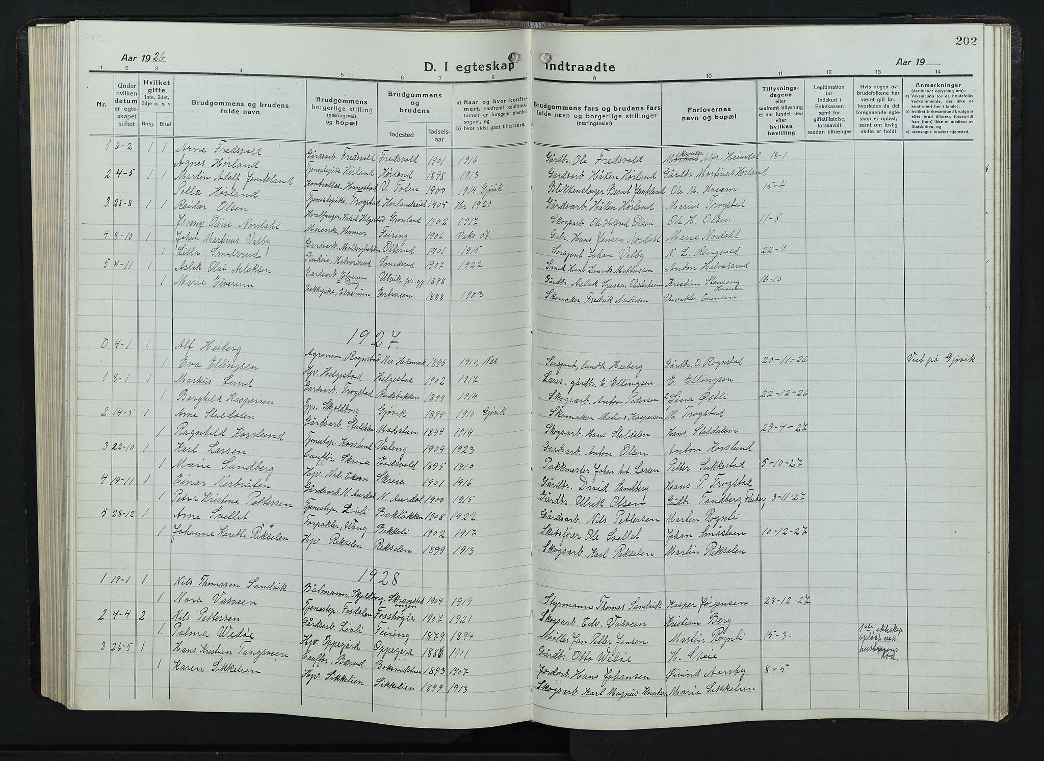 SAH, Balke prestekontor, Klokkerbok nr. 1, 1920-1955, s. 202