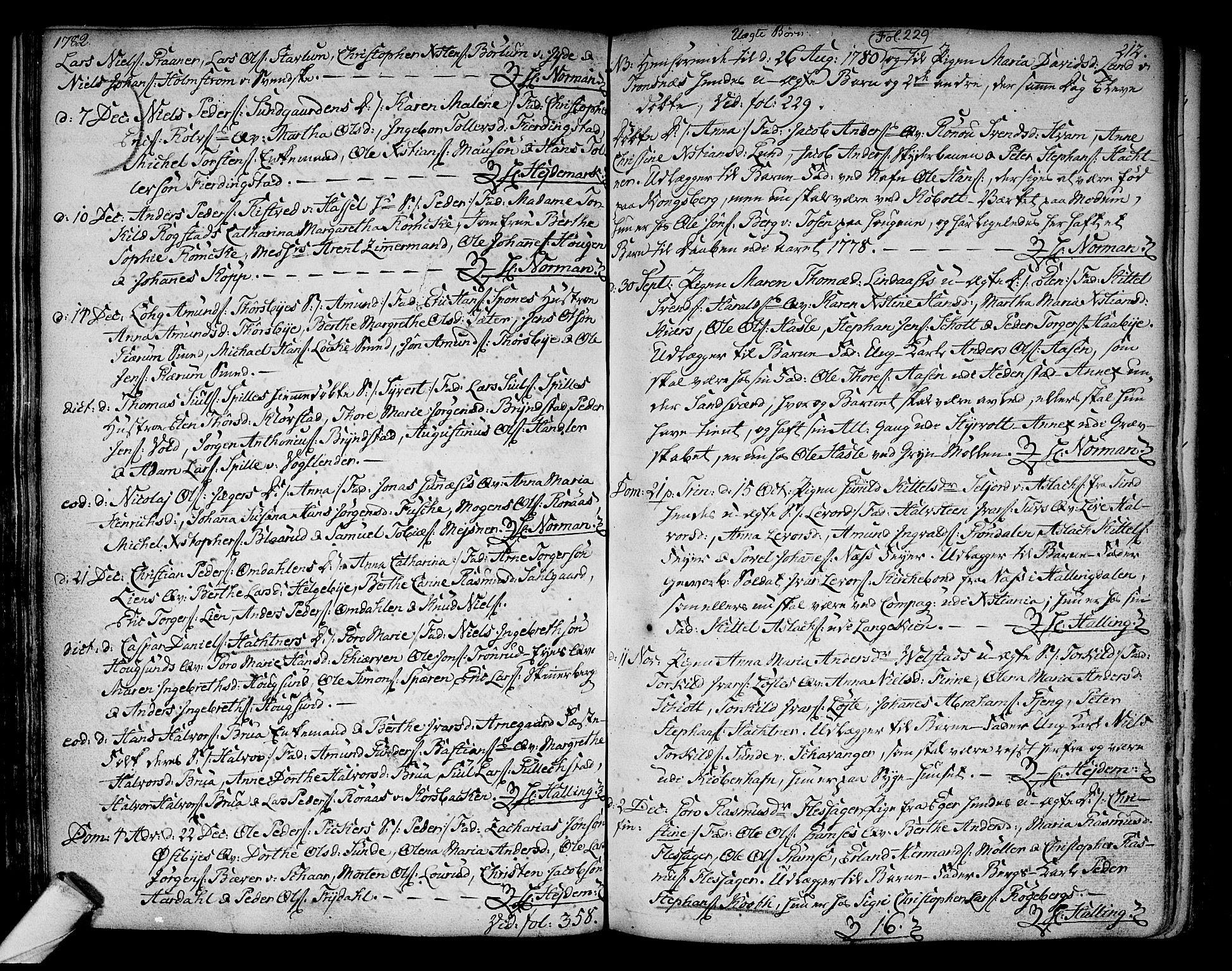 SAKO, Kongsberg kirkebøker, F/Fa/L0005: Ministerialbok nr. I 5, 1769-1782, s. 212