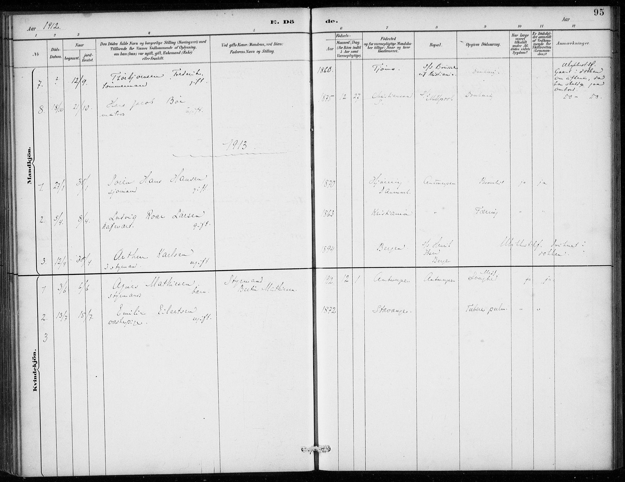 SAB, Den Norske Sjømannsmisjon i utlandet*, Ministerialbok nr. A 2, 1887-1913, s. 95