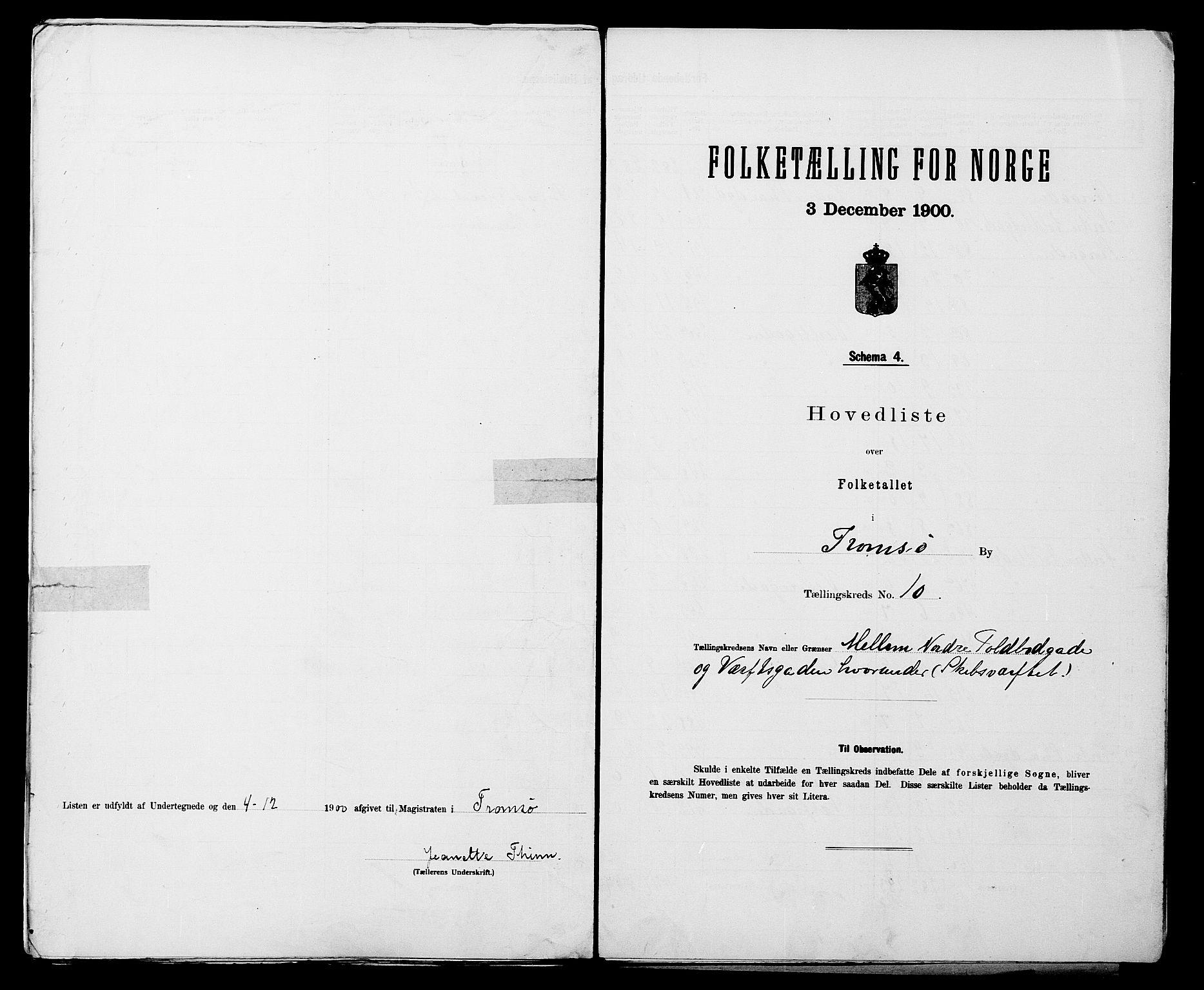 SATØ, Folketelling 1900 for 1902 Tromsø kjøpstad, 1900, s. 22