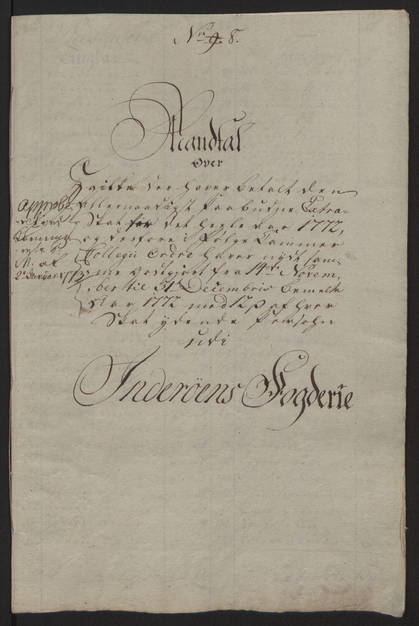 RA, Rentekammeret inntil 1814, Reviderte regnskaper, Fogderegnskap, R63/L4420: Ekstraskatten Inderøy, 1762-1772, s. 515