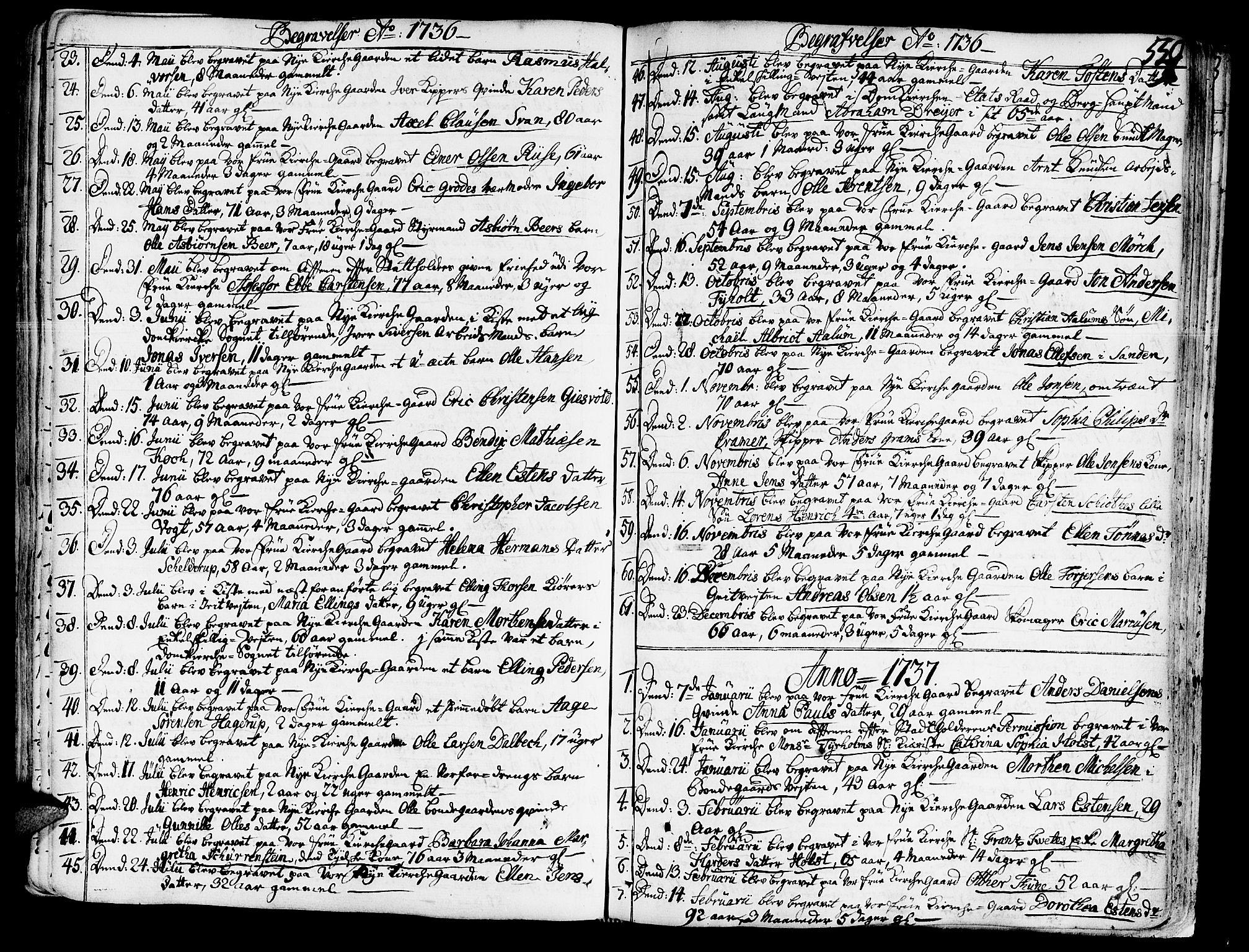 SAT, Ministerialprotokoller, klokkerbøker og fødselsregistre - Sør-Trøndelag, 602/L0103: Ministerialbok nr. 602A01, 1732-1774, s. 559