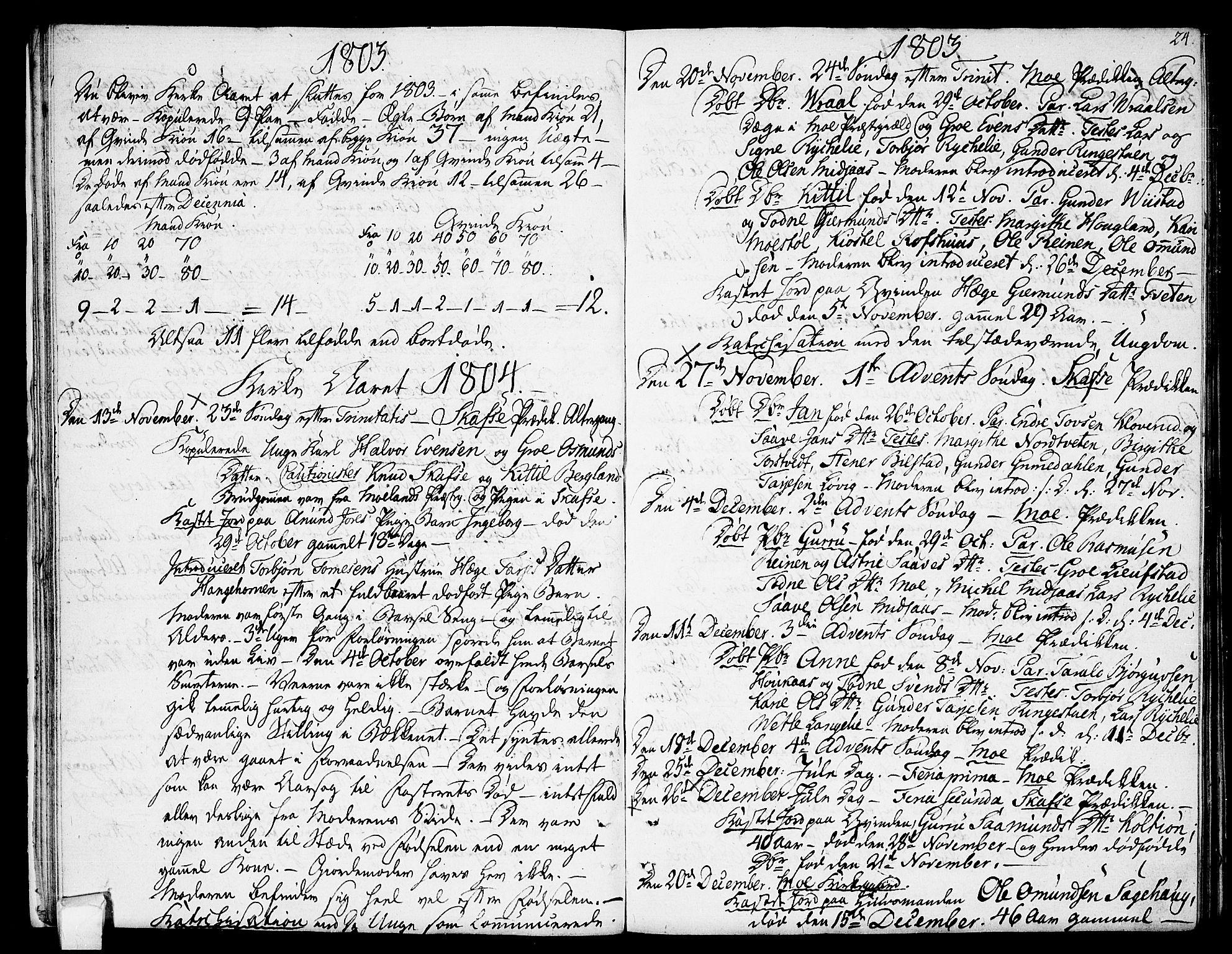 SAKO, Mo kirkebøker, F/Fa/L0003: Ministerialbok nr. I 3, 1800-1814, s. 24