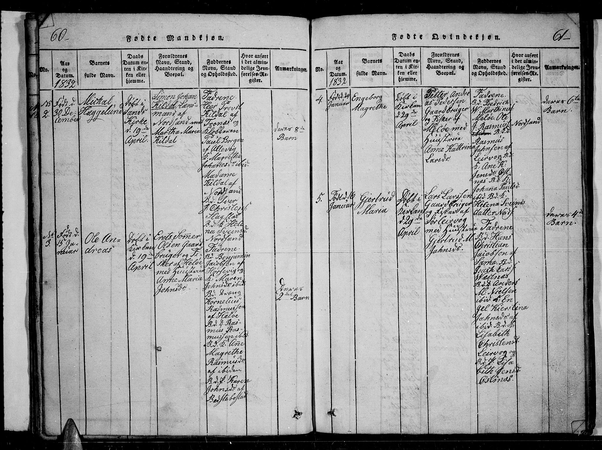 SATØ, Trondenes sokneprestkontor, H/Hb/L0004klokker: Klokkerbok nr. 4, 1821-1839, s. 60-61