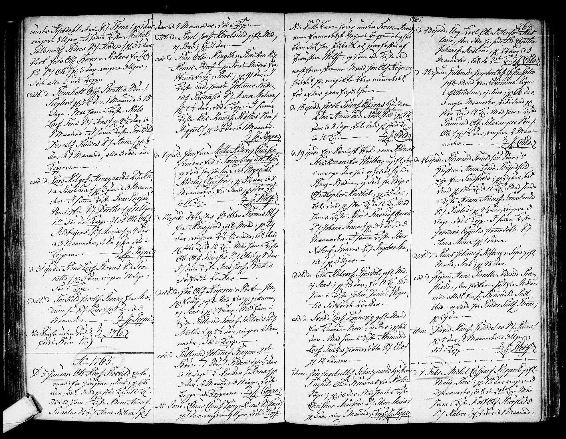SAKO, Kongsberg kirkebøker, F/Fa/L0004: Ministerialbok nr. I 4, 1756-1768, s. 264