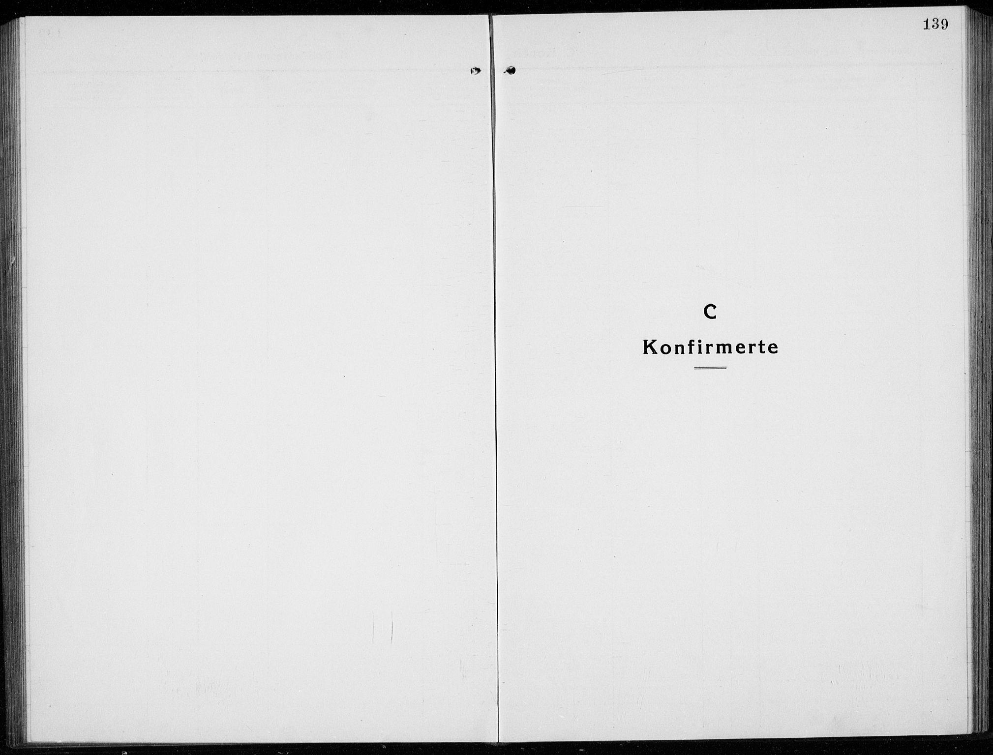 SAKO, Sigdal kirkebøker, G/Ga/L0007: Klokkerbok nr. I 7, 1917-1935, s. 139