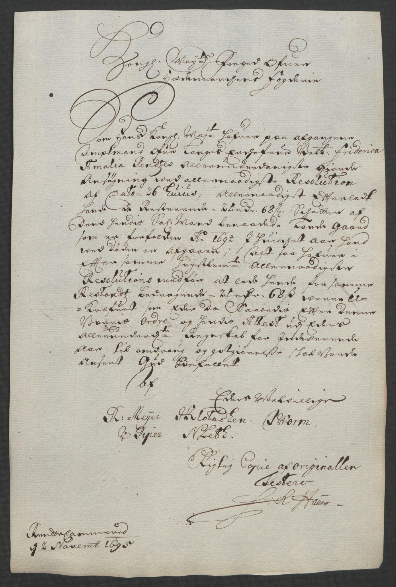 RA, Rentekammeret inntil 1814, Reviderte regnskaper, Fogderegnskap, R16/L1036: Fogderegnskap Hedmark, 1695-1696, s. 244