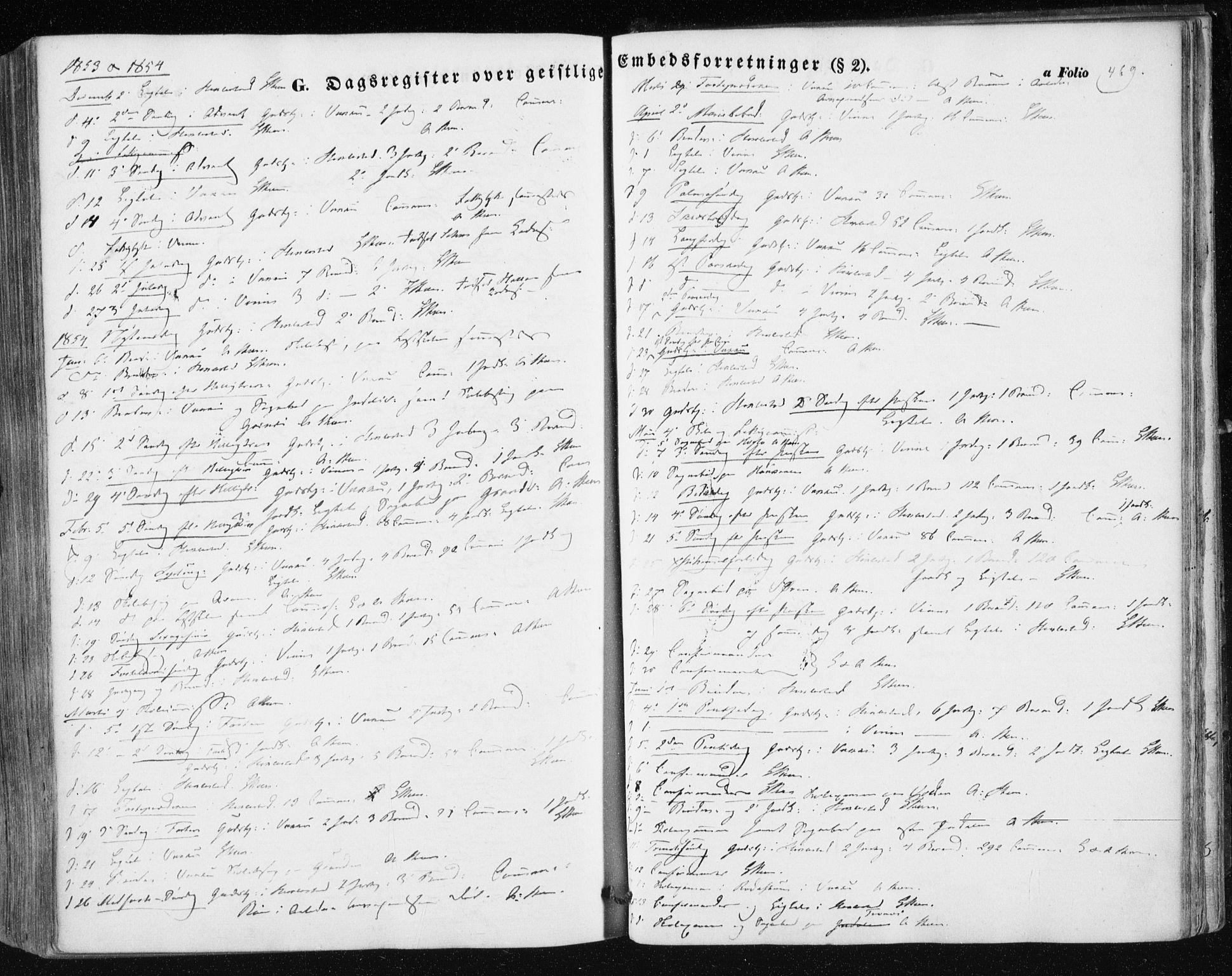 SAT, Ministerialprotokoller, klokkerbøker og fødselsregistre - Nord-Trøndelag, 723/L0240: Ministerialbok nr. 723A09, 1852-1860, s. 469
