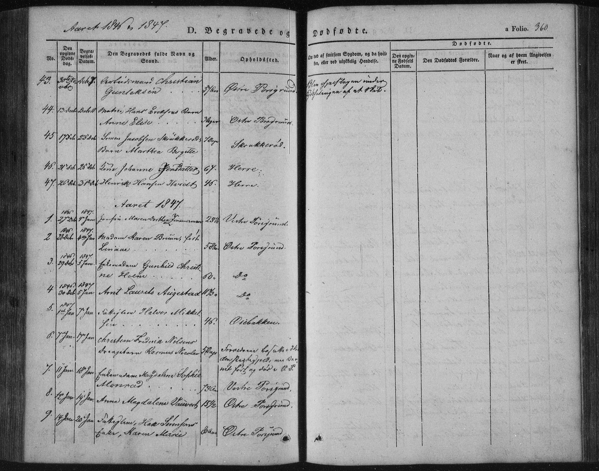 SAKO, Porsgrunn kirkebøker , F/Fa/L0006: Ministerialbok nr. 6, 1841-1857, s. 360